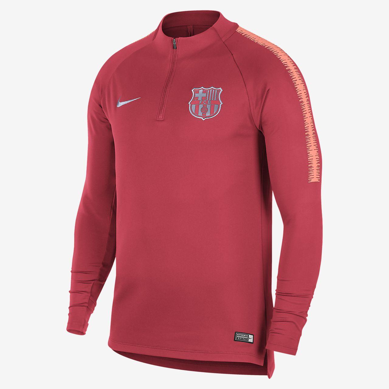5aaf4ccb3 FC Barcelona Dri-FIT Squad Drill Men s Long Sleeve Soccer Top. Nike.com