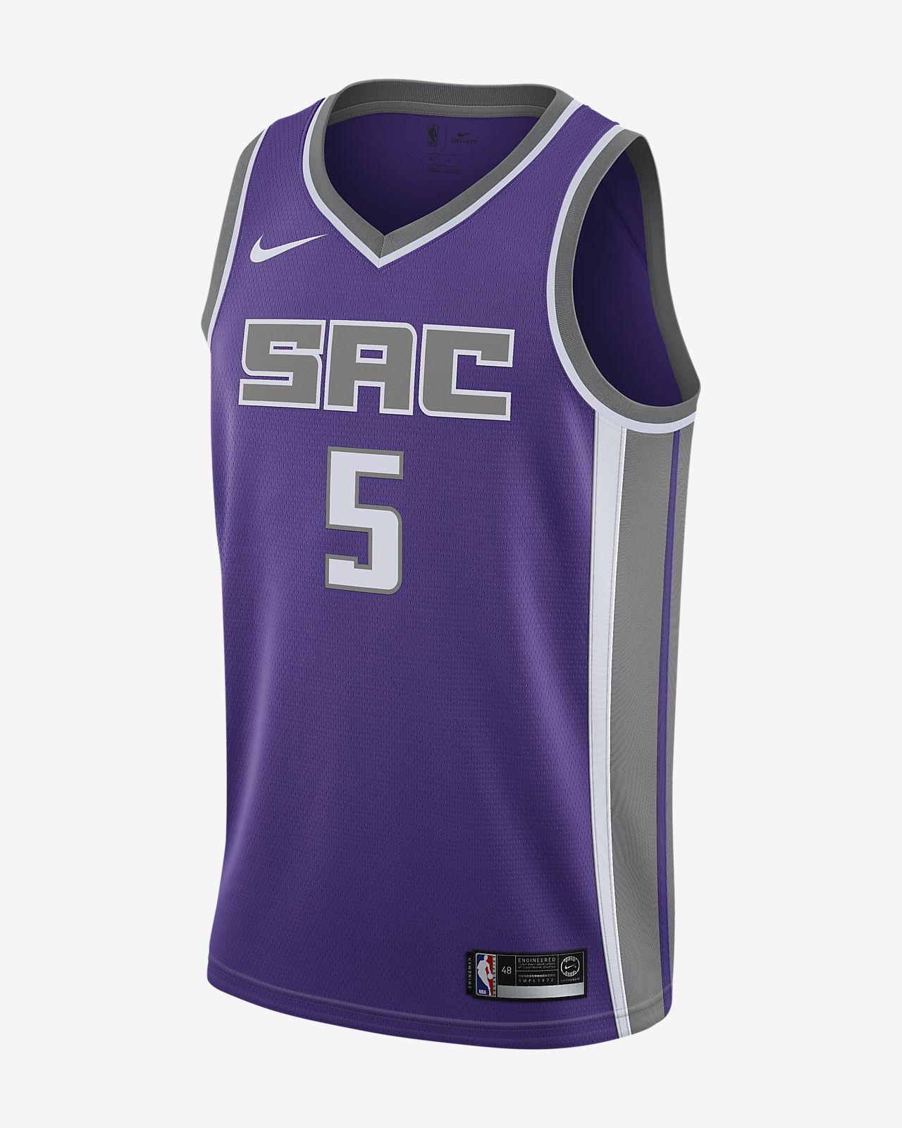 Camiseta conectada Nike NBA para hombre De'aaron Fox Icon Edition Swingman Jersey (Sacramento Kings)