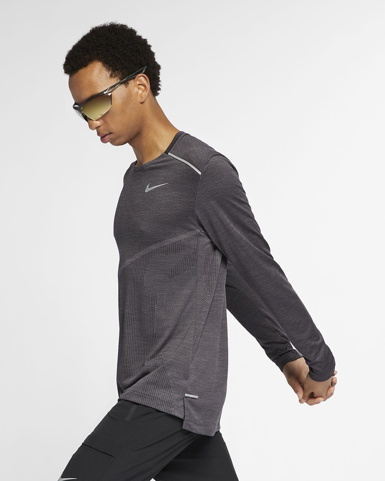 16076f84 Nike TechKnit Ultra Men's Long-Sleeve Running Top. Nike.com