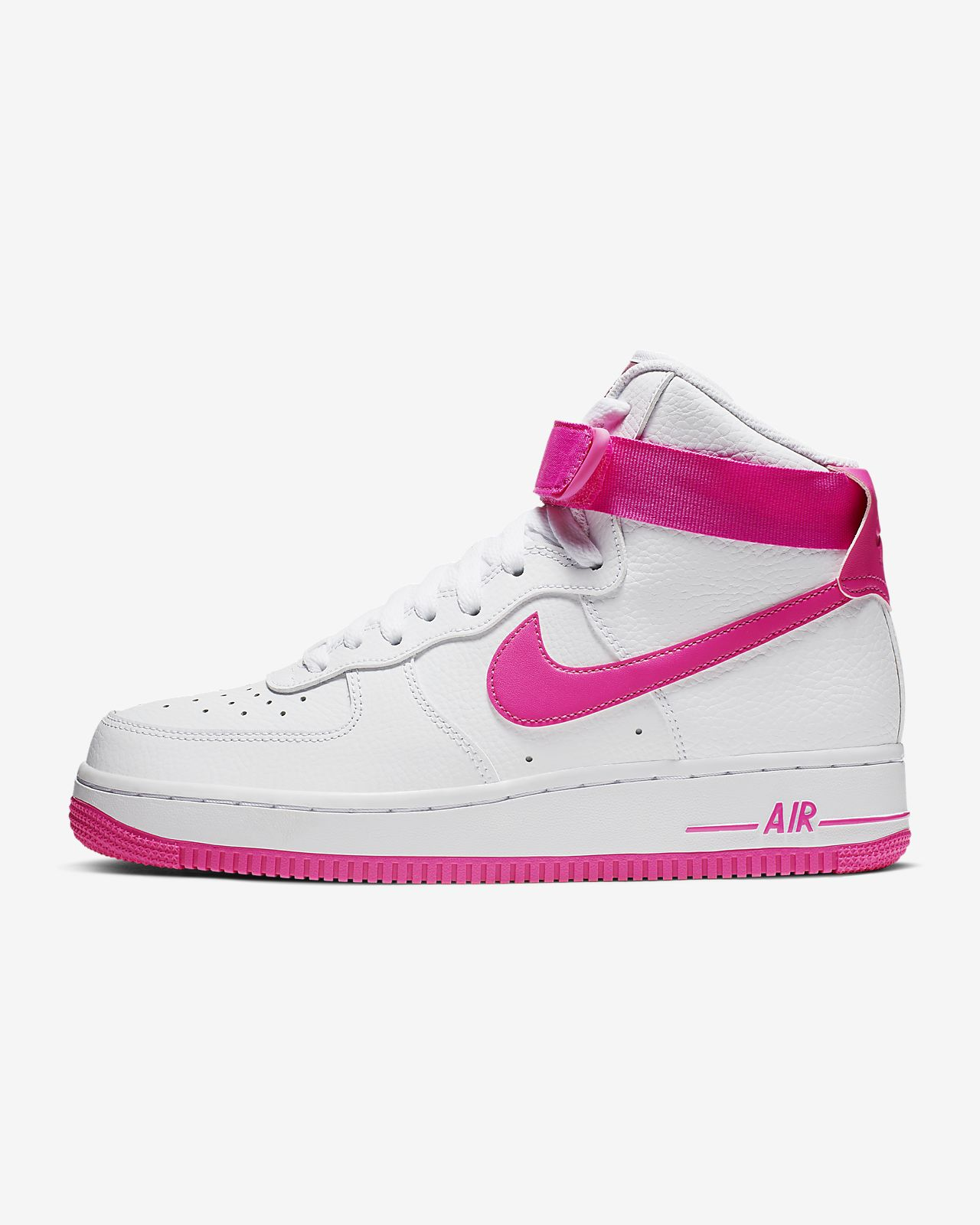 nike womens air force 1 high pink white