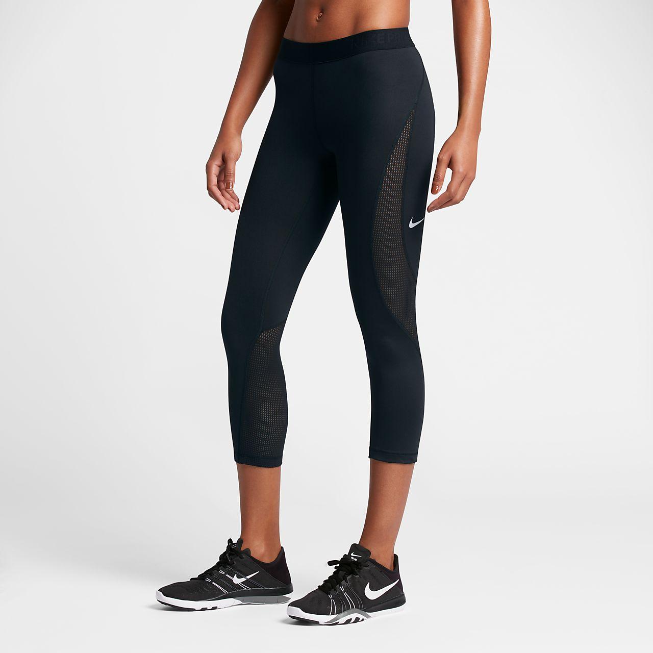 Nike Pro HyperCool Women's Capris Black/Pure Platinum