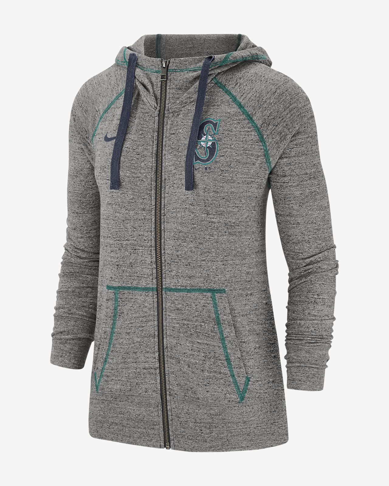 Nike Gym Vintage (MLB Mariners) Women's Full-Zip Hoodie