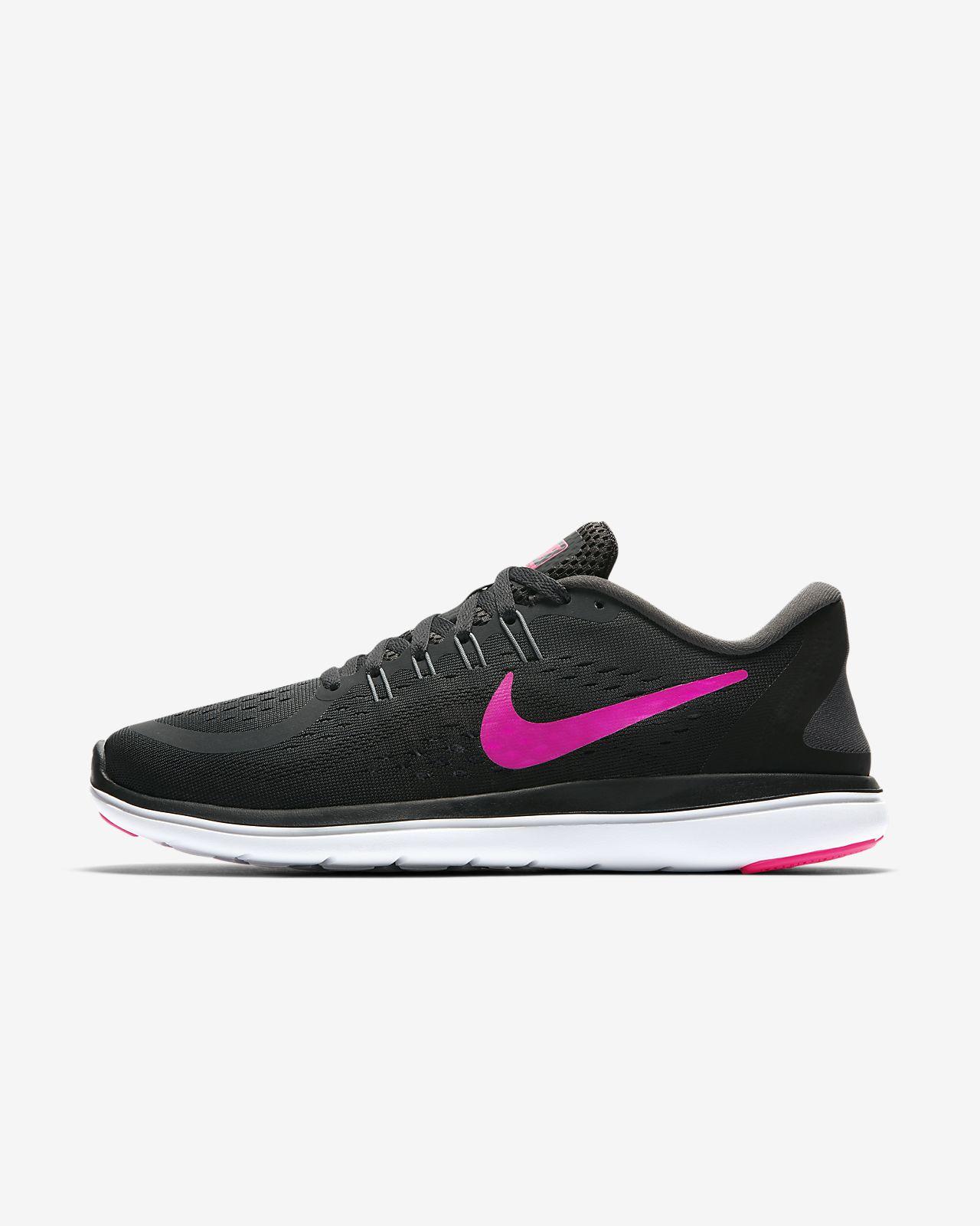 Nike »Wmns Flex Run 2017« Laufschuh, schwarz, anthrazit-pink