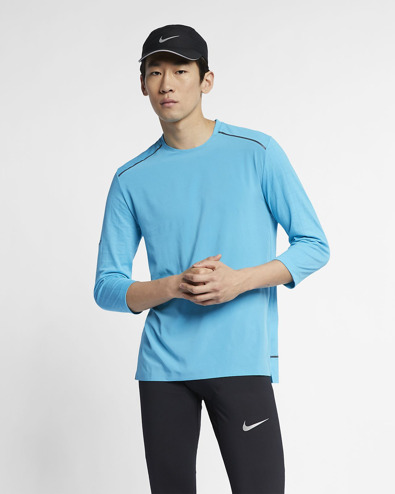 Nike Rise 365  Men's 3/4-Sleeve Running Top