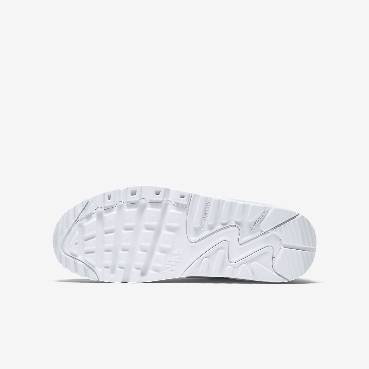 Nike Air Max 90 Leather Scarpa Ragazzi (35.5 40) Bianco