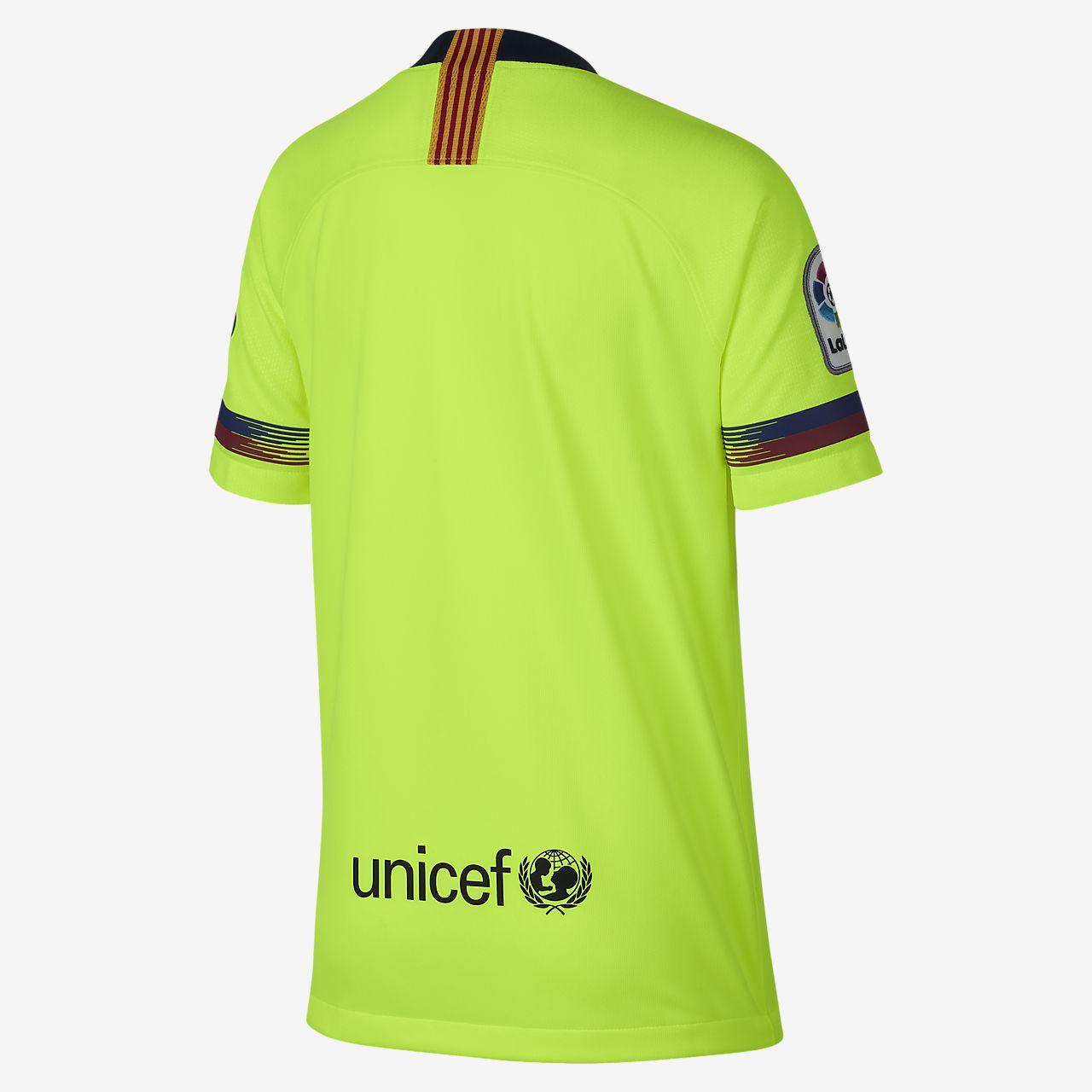 ... Camiseta de fútbol para niños talla grande 2018 19 FC Barcelona Stadium  Away f49146fc73280