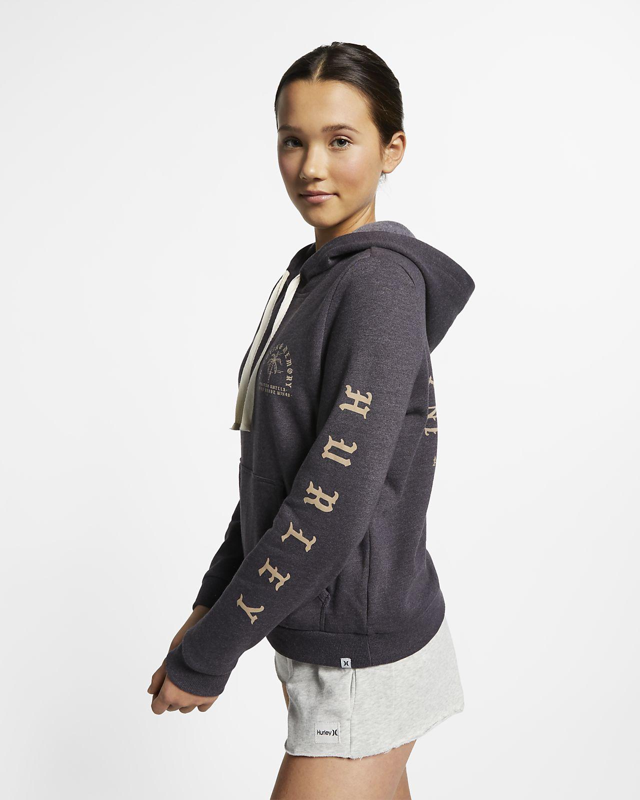 5a75661776b9 Fleecehuvtröja Hurley Combo Swells för kvinnor. Nike.com SE