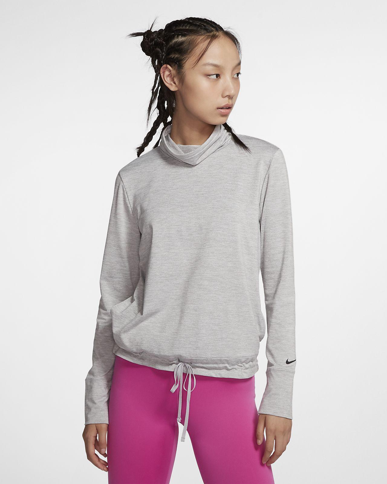 Nike Yoga 女款高領圓領上衣