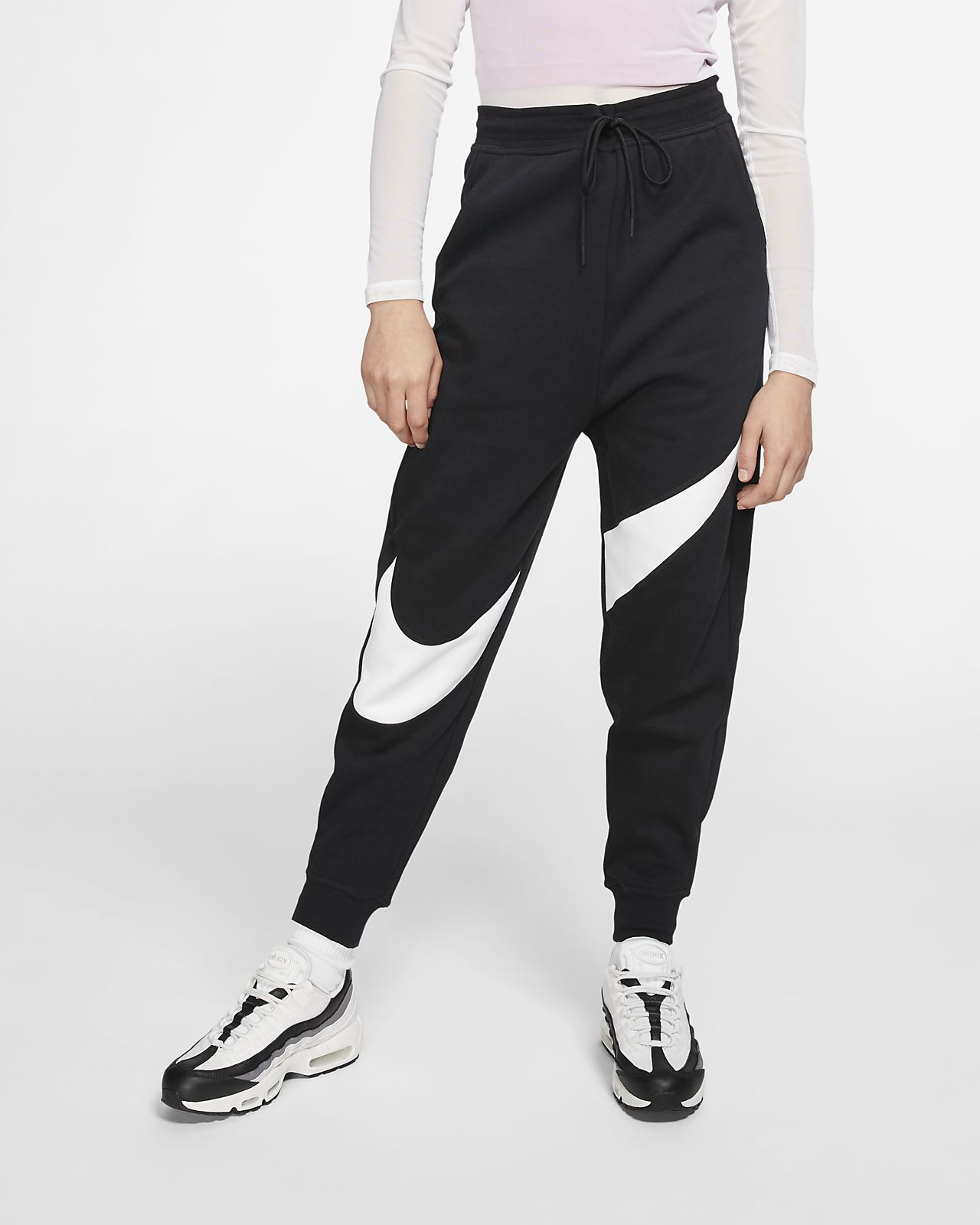 Nike Sportswear Swoosh-fleecebukser til kvinder