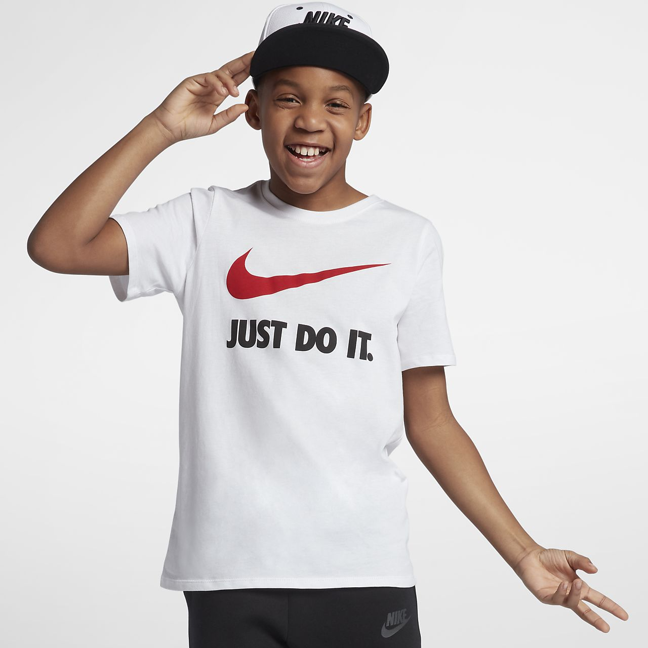 5bad41b0daf92 Camiseta para niños talla grande Nike Just Do It Swoosh. Nike.com MX