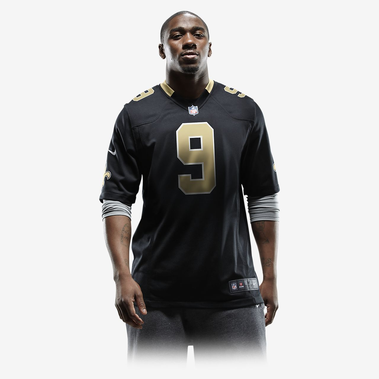 ... NFL New Orleans Saints (Drew Brees) Men s American Football Home Game  Jersey a52ee857d