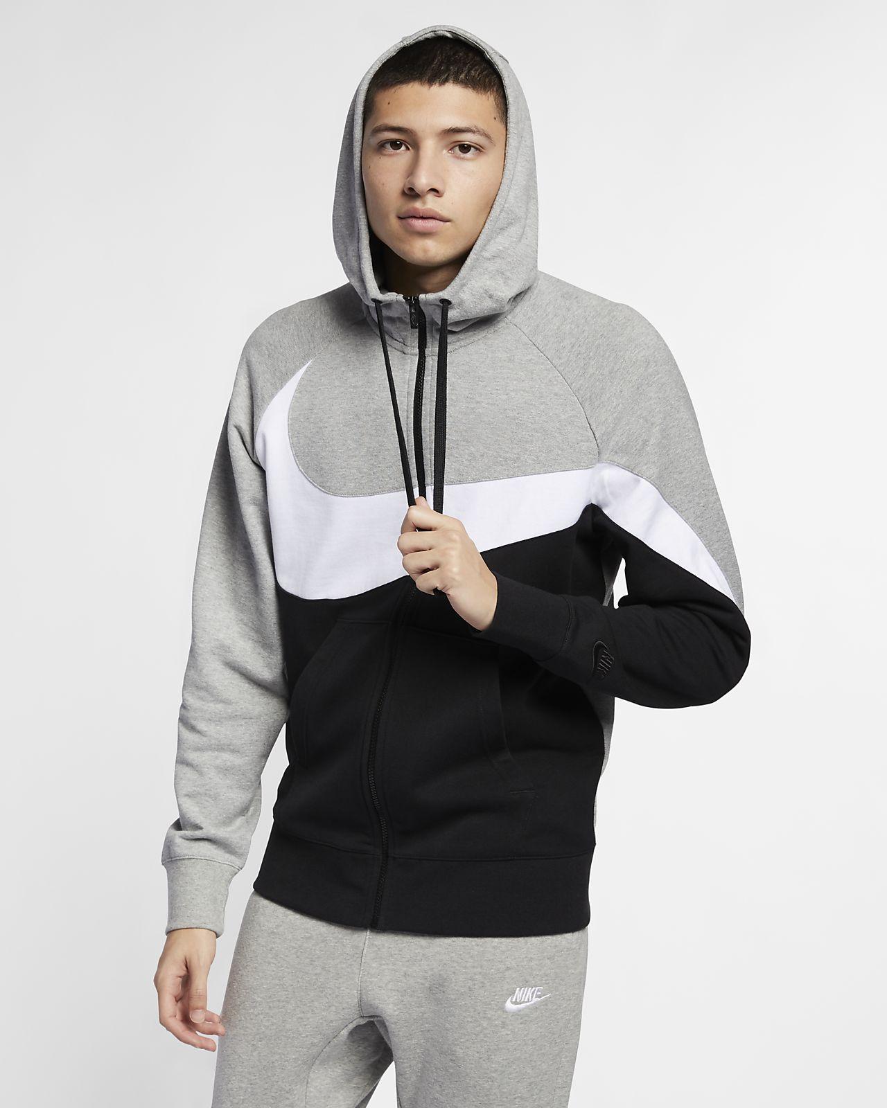 Pánská mikina Nike Sportswear z francouzského froté s kapucí a dlouhým zipem
