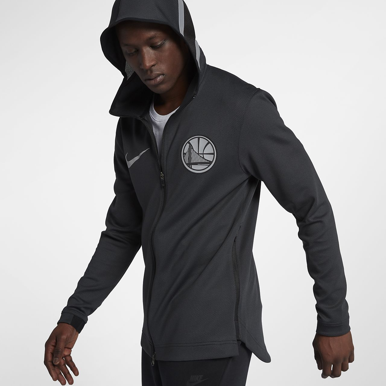 ... Golden State Warriors Nike Therma Flex Showtime Men's NBA Hoodie