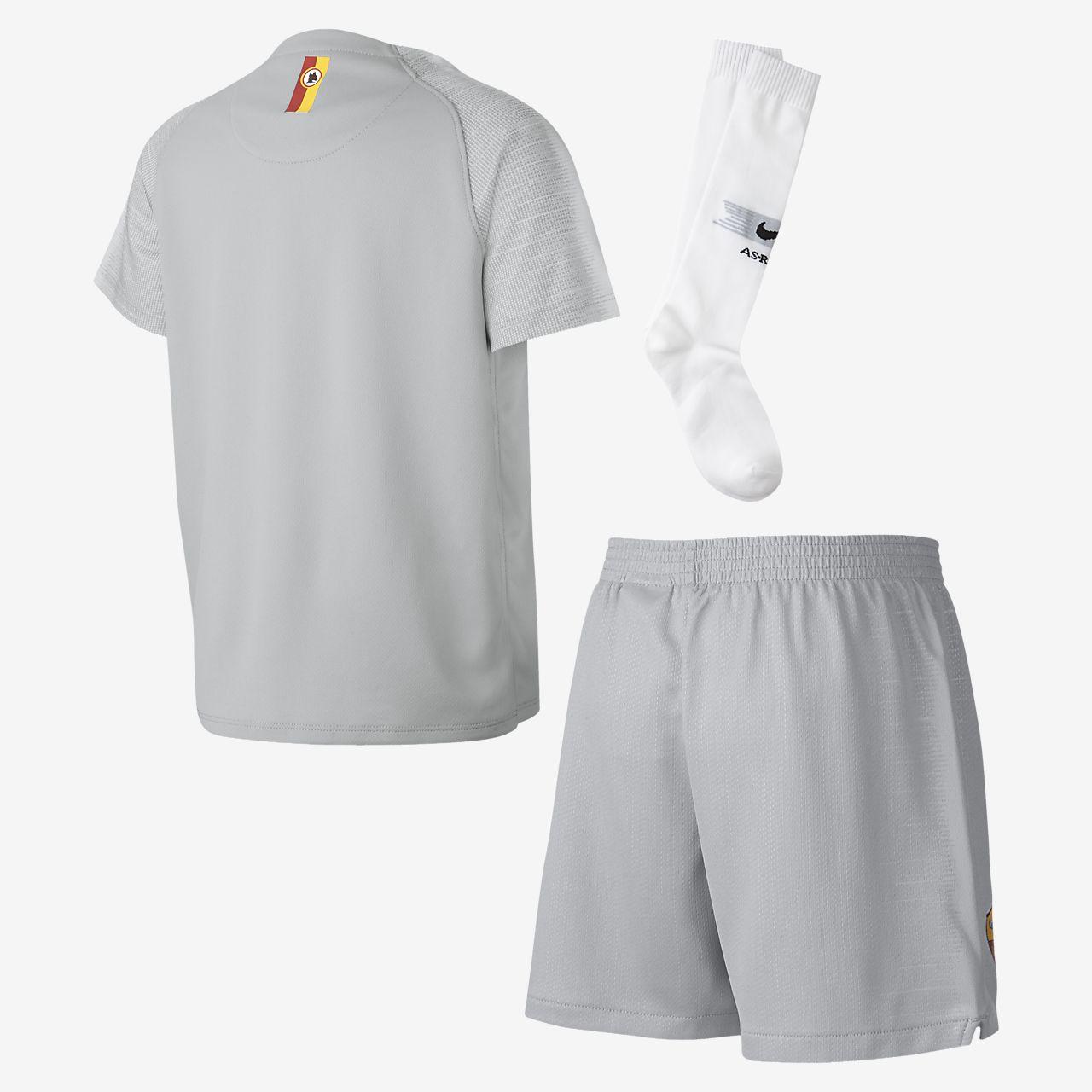 2018 19 AS Roma Stadium Away Younger Kids  Football Kit. Nike.com LU 67aa0bb22
