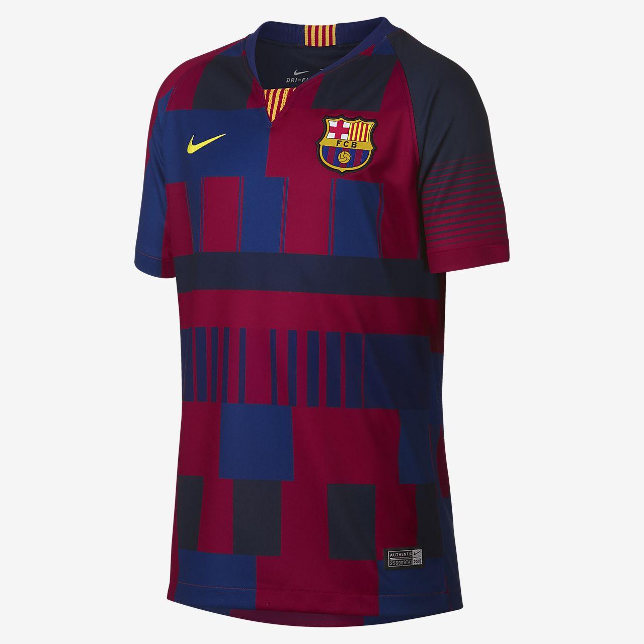 FC Barcelona 20th Anniversary  Big Kids' Jersey