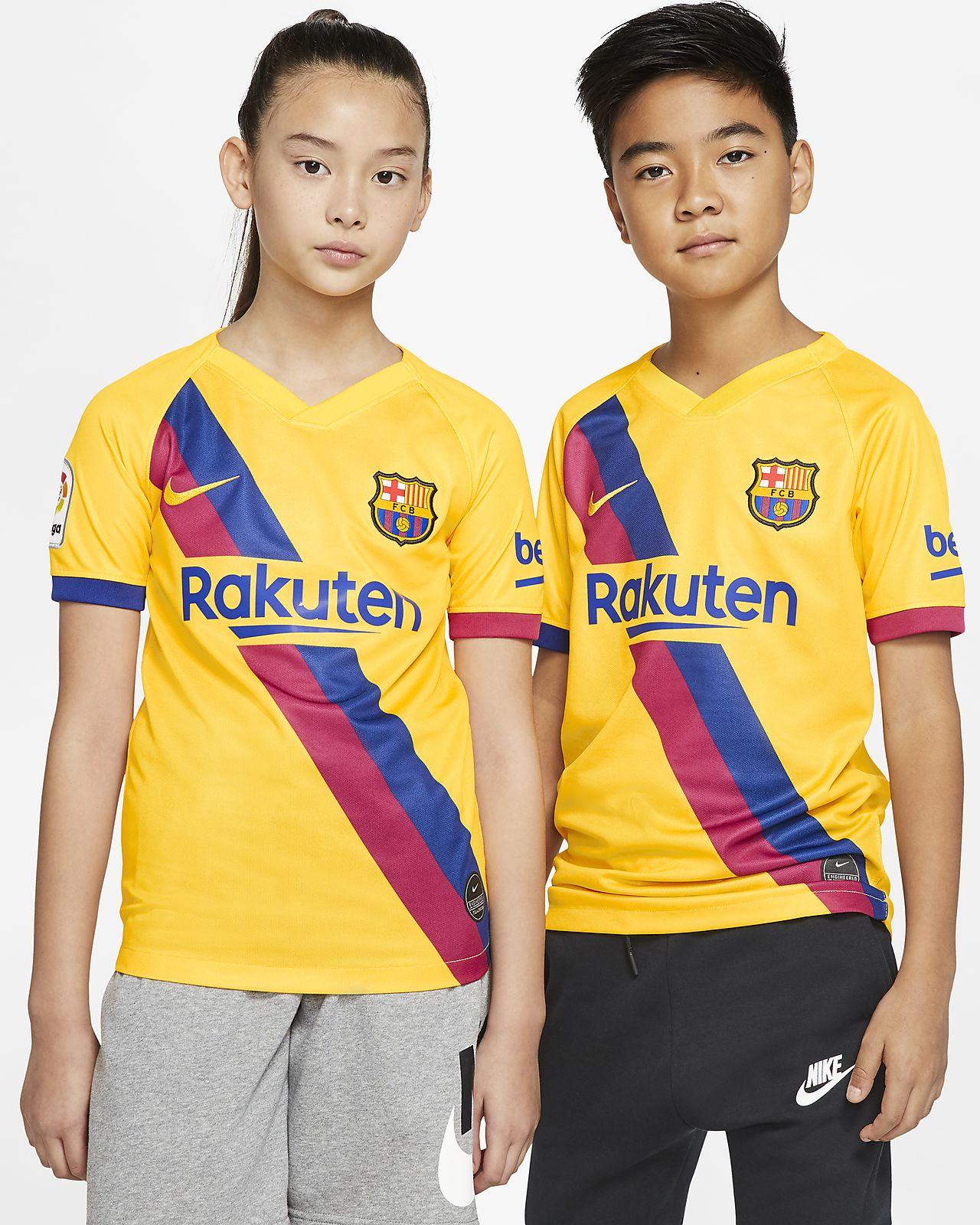 เสื้อแข่งฟุตบอลเด็กโต FC Barcelona 2019/20 Stadium Away