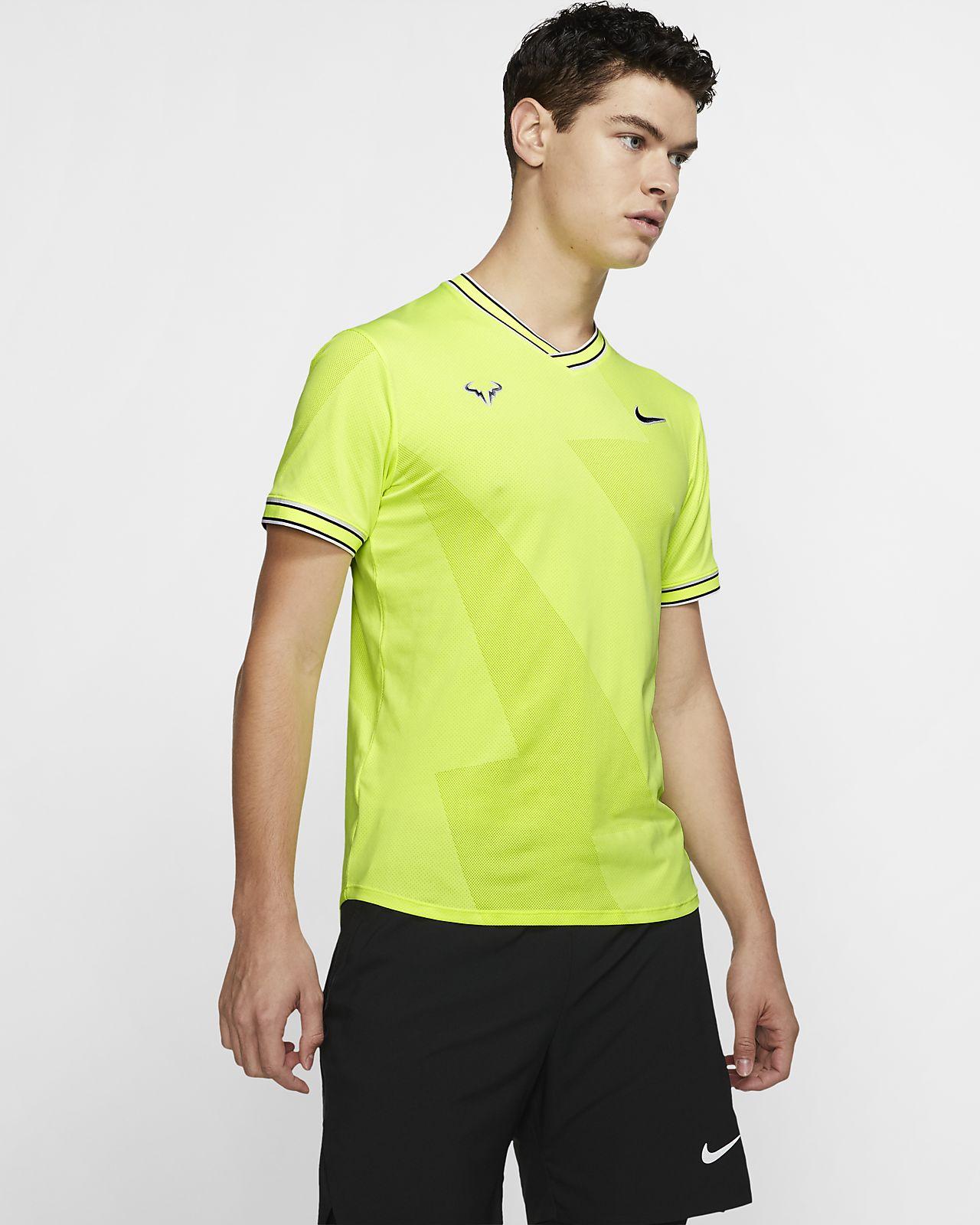 NikeCourt AeroReact Rafa Kısa Kollu Erkek Tenis Üstü