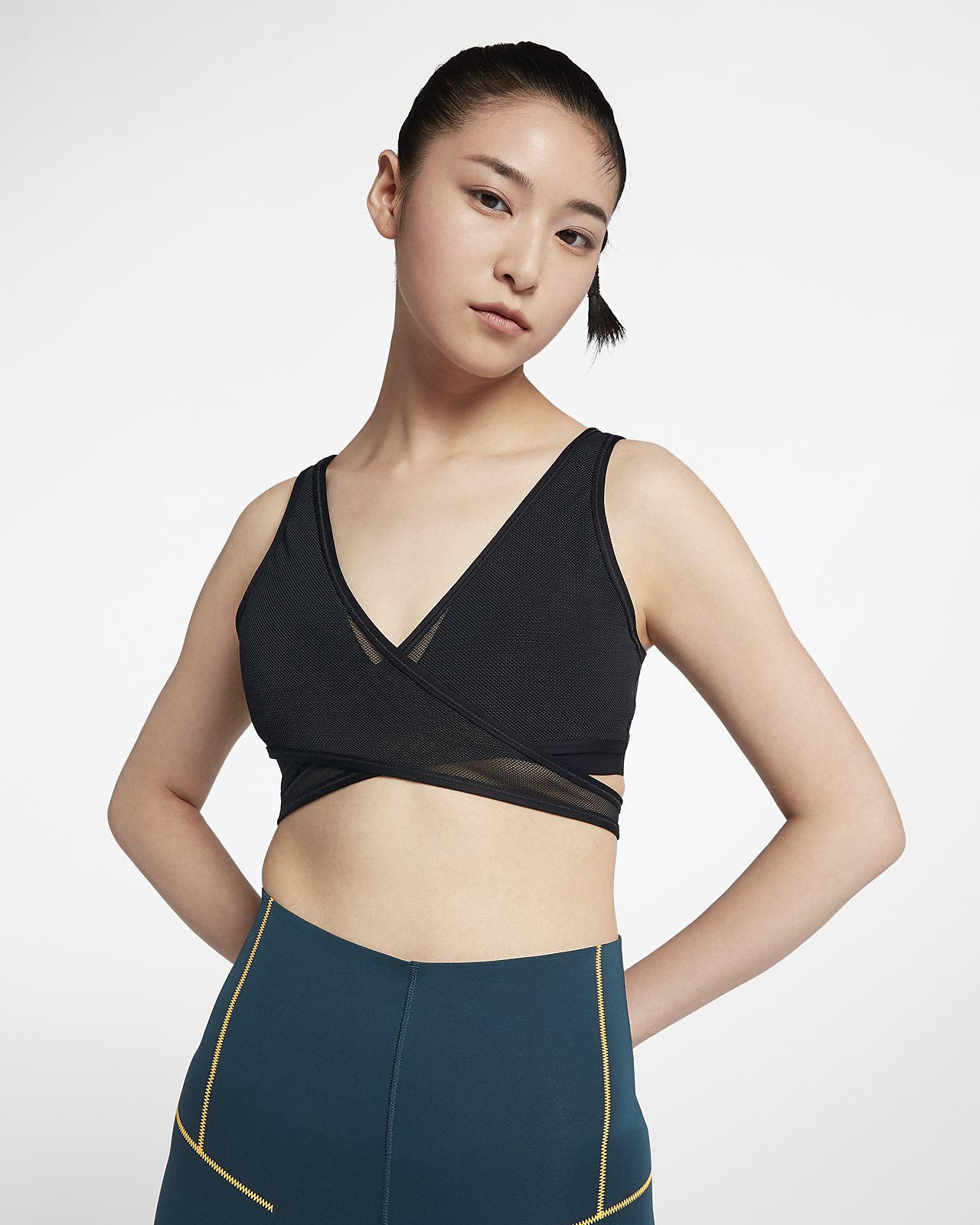 สปอร์ตบราผู้หญิงมีตาข่ายซัพพอร์ตระดับต่ำ Nike Air