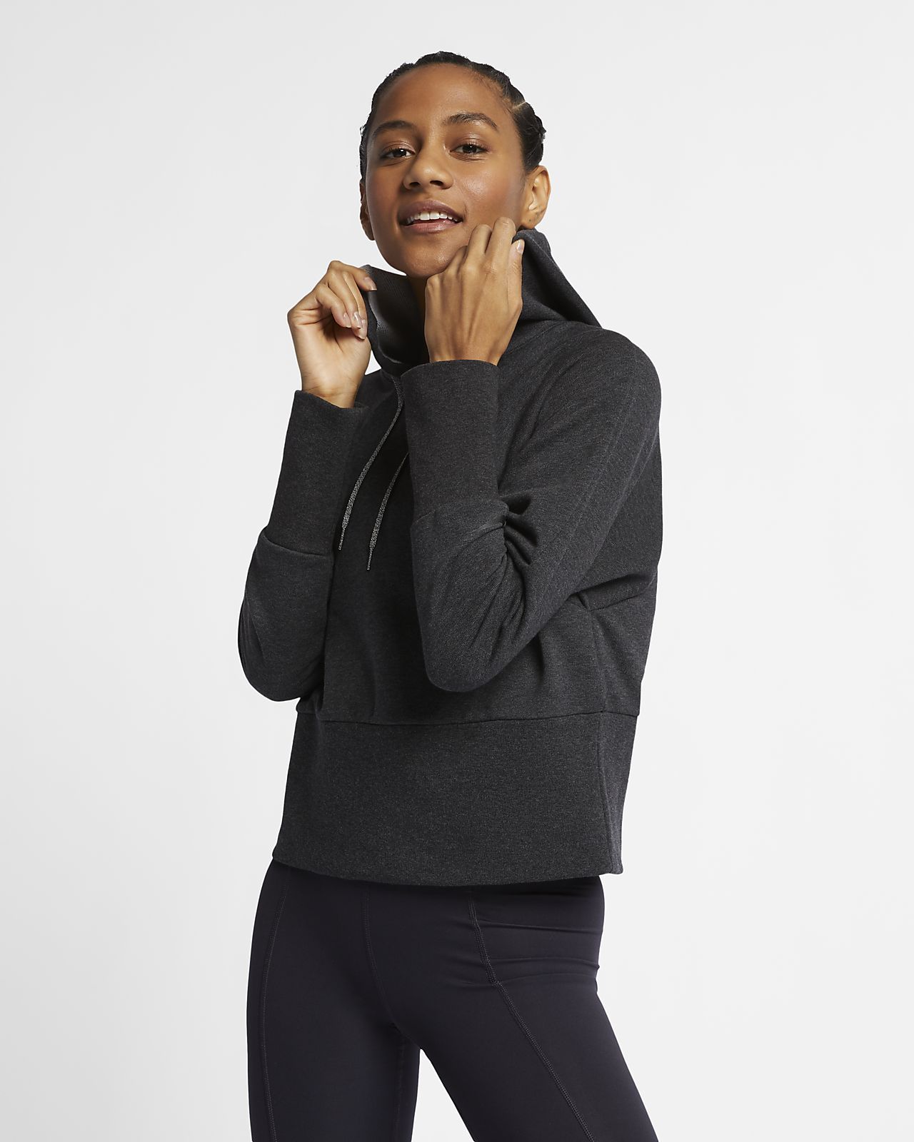 Felpa pullover da yoga con cappuccio Nike Studio - Donna