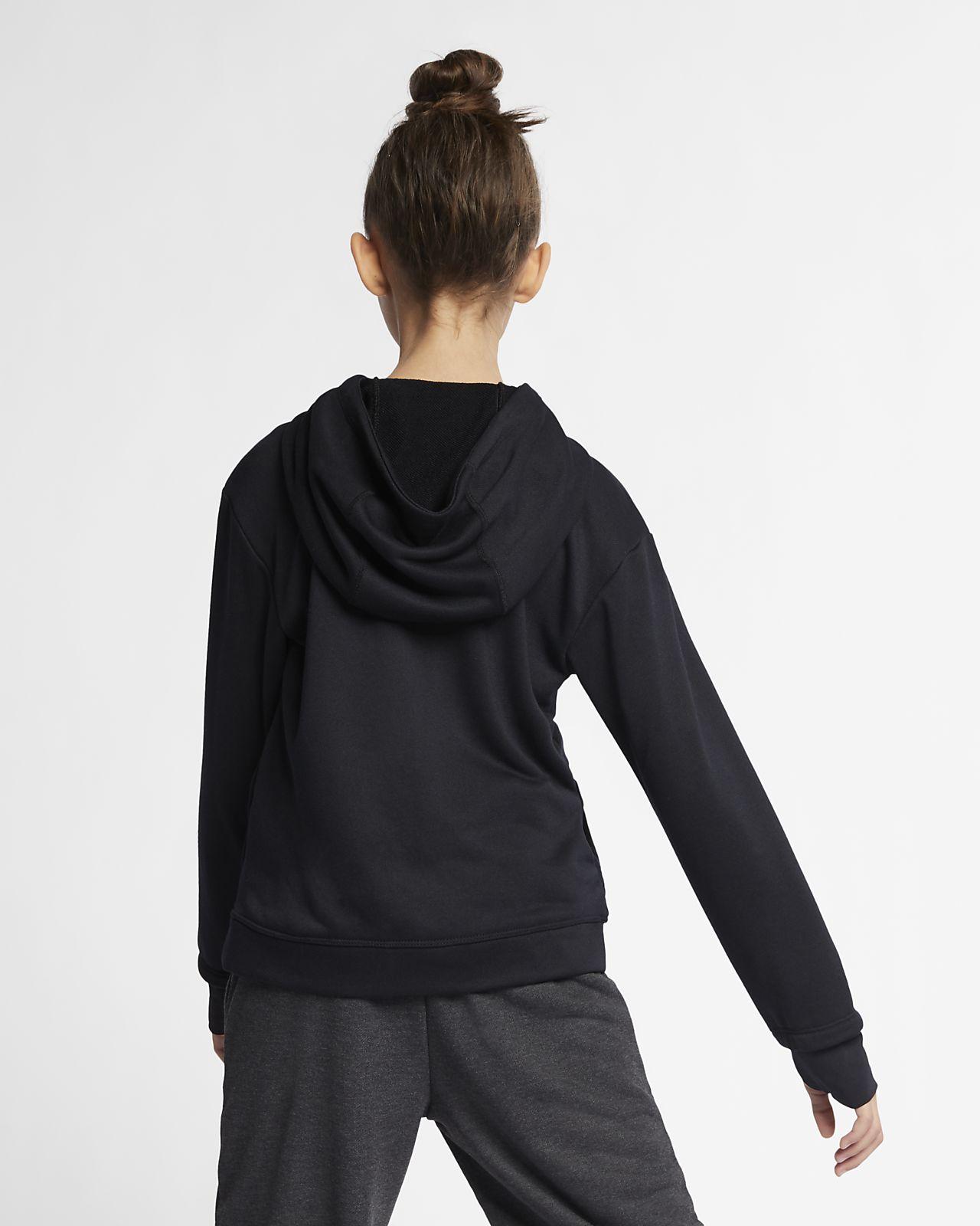 4adf47d0cfca Nike Dri-FIT Core Studio Big Kids  (Girls ) Full-Zip Training Hoodie ...