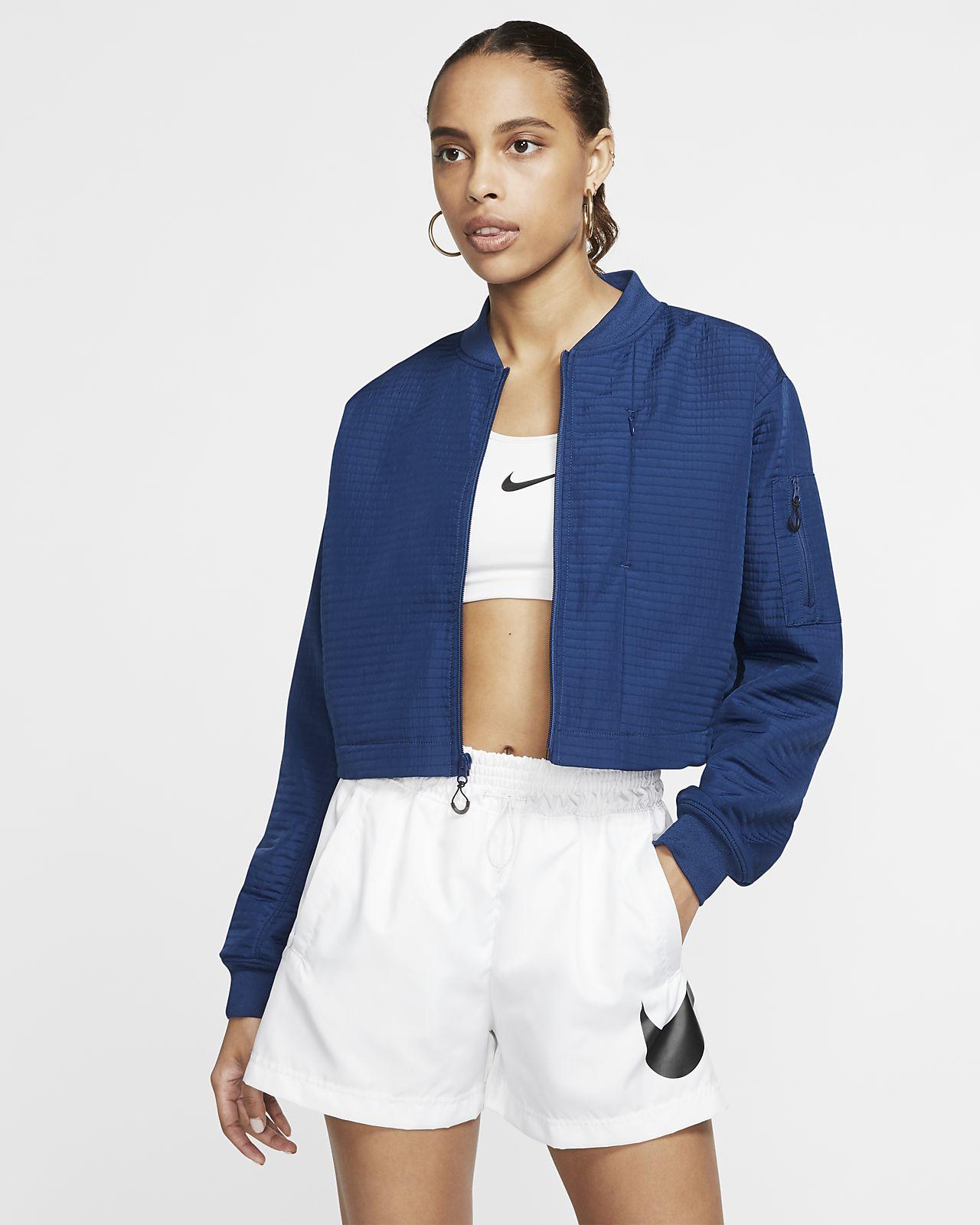เสื้อแจ็คเก็ตบอมเบอร์ผู้หญิง Nike Sportswear Tech Pack