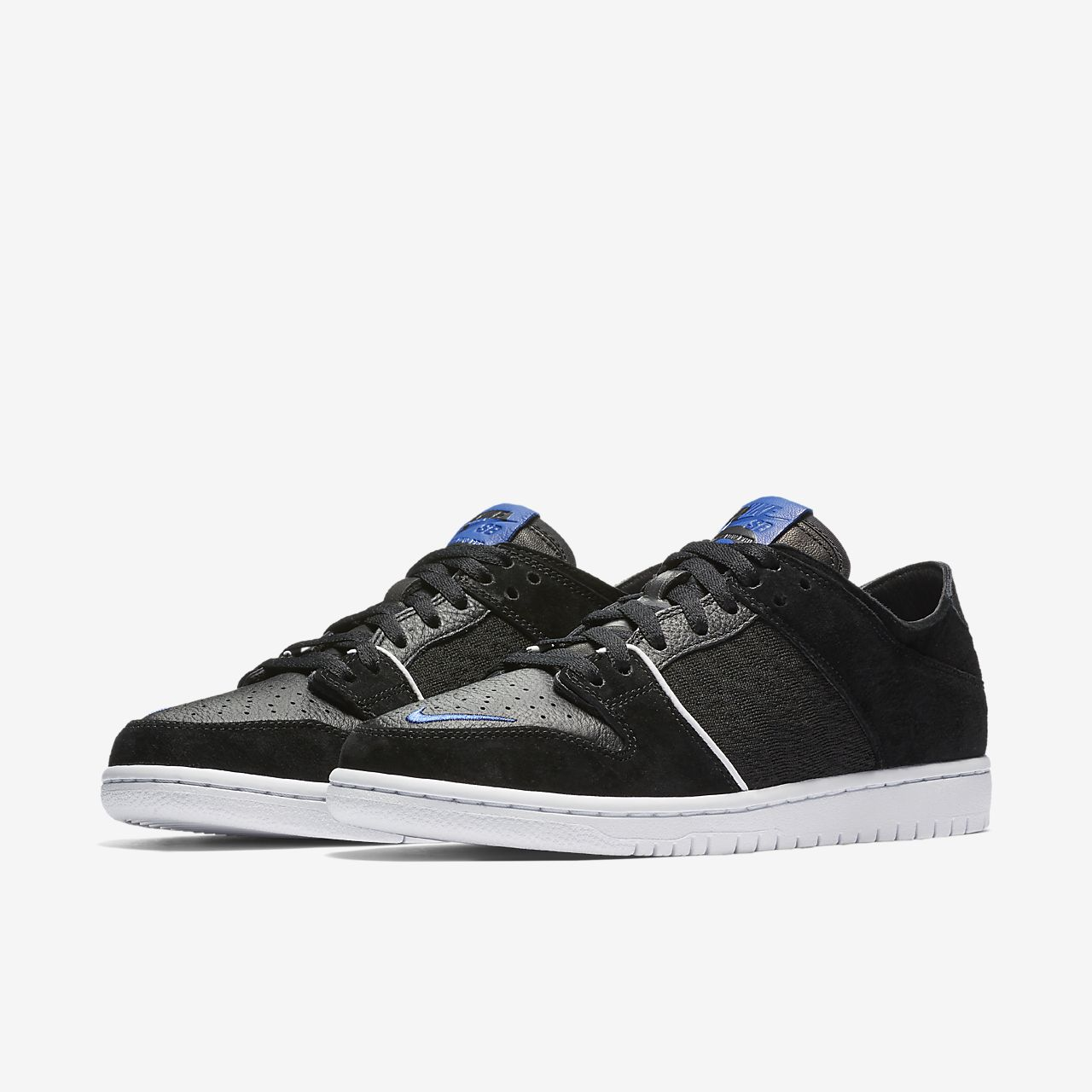 Nike SB Zoom Dunk Low Pro QS Men's Skateboarding Shoes Black/White iN4051X