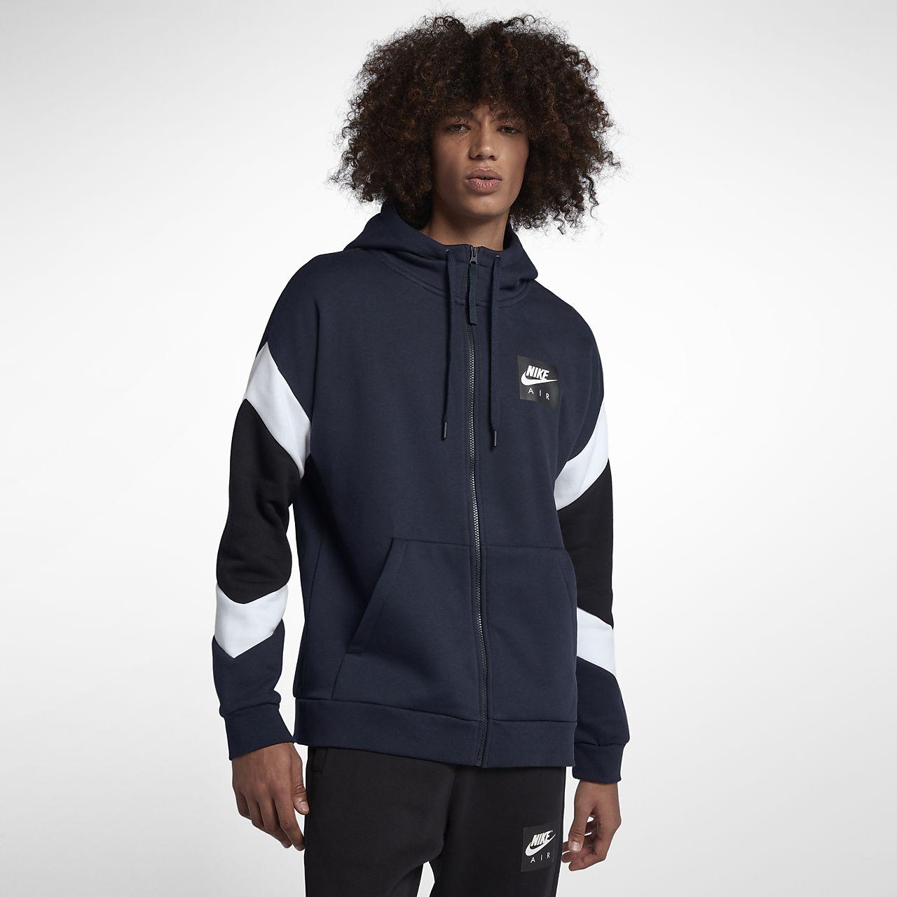 caa183cb1a8 Ανδρική μπλούζα με κουκούλα και φερμουάρ Nike Sportswear Air. Nike ...