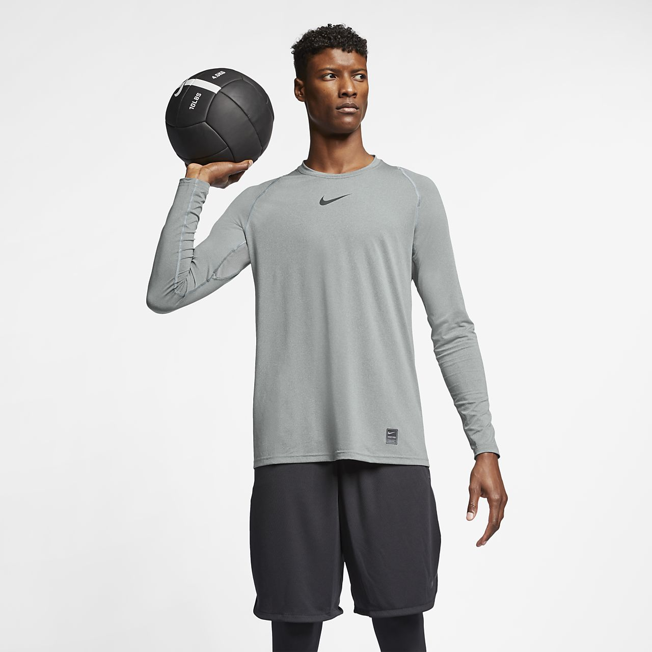 Nike pro men 39 s long sleeve top for Cool long sleeve t shirts for men
