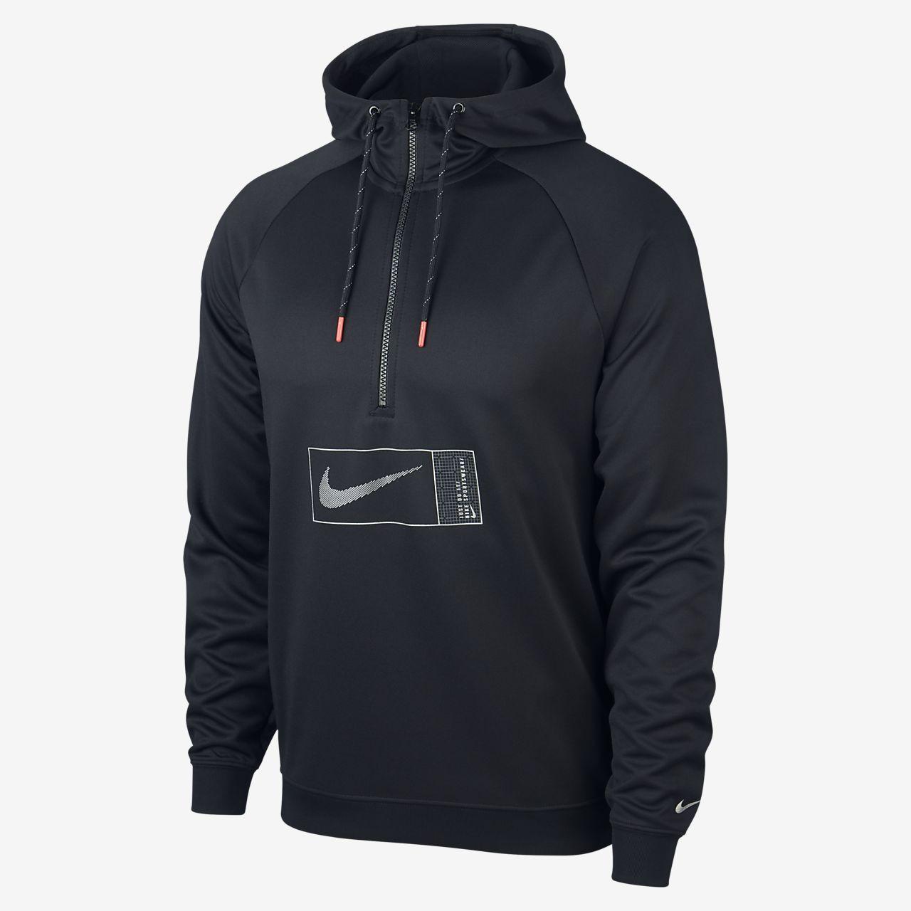 Giacca tuta con cappuccio e zip uomo Nike nera