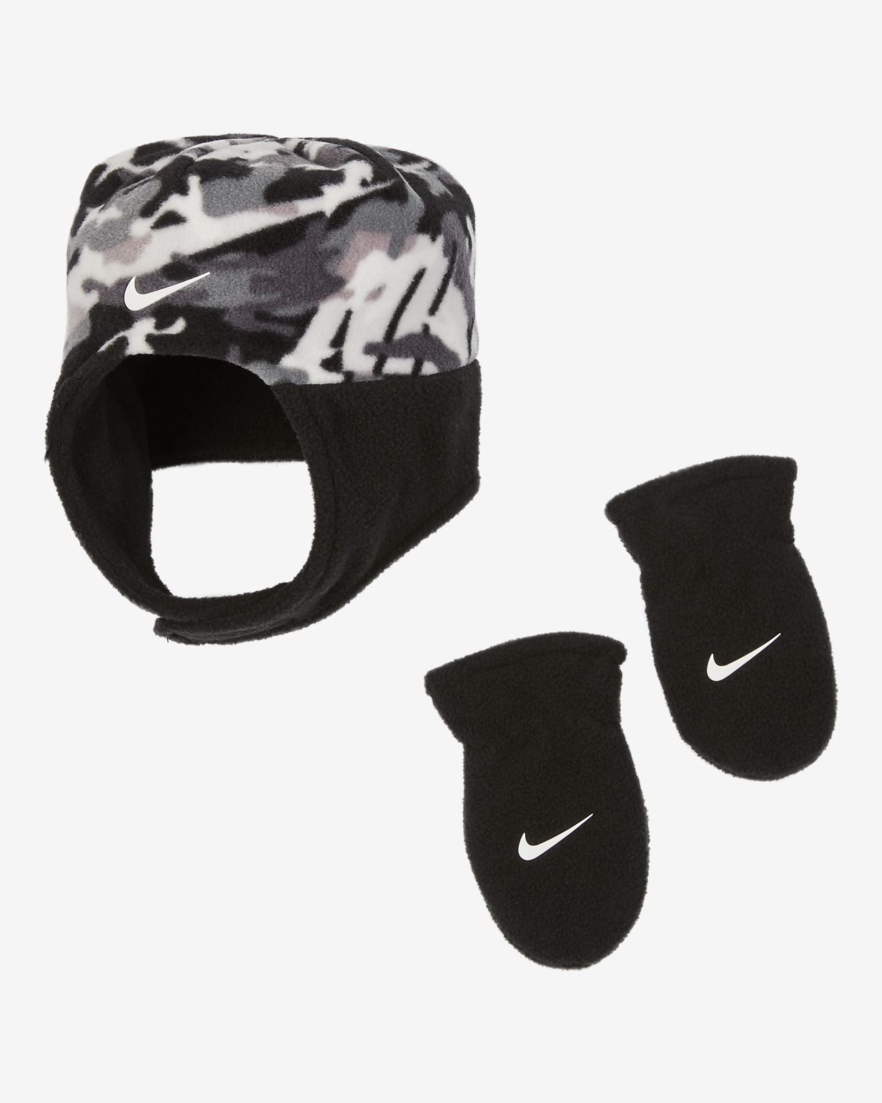 Nike Baby Trapper Hat and Mittens Set