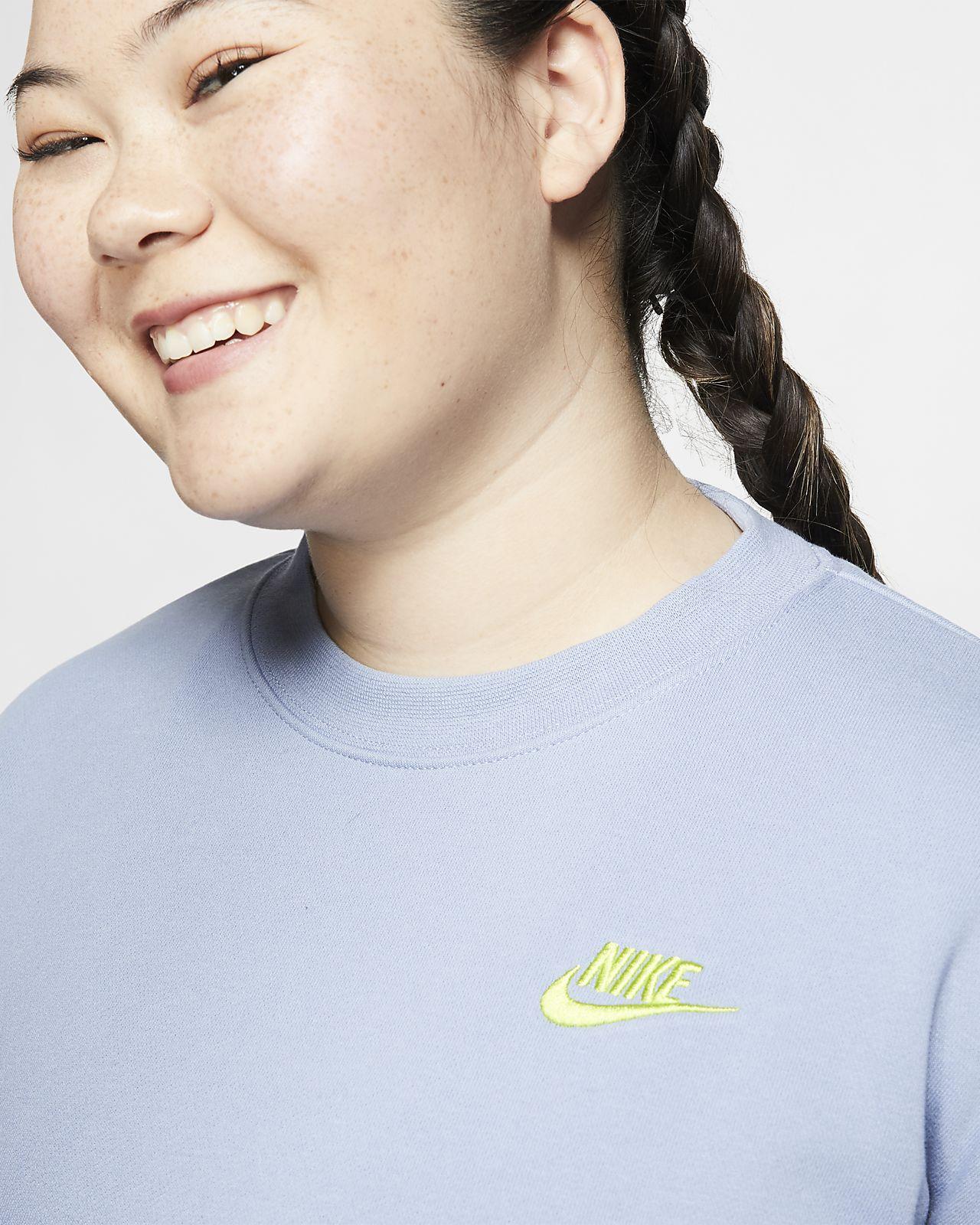 b1ee210a Nike Womens Sportswear Heritage Fleece Plus Size Crew
