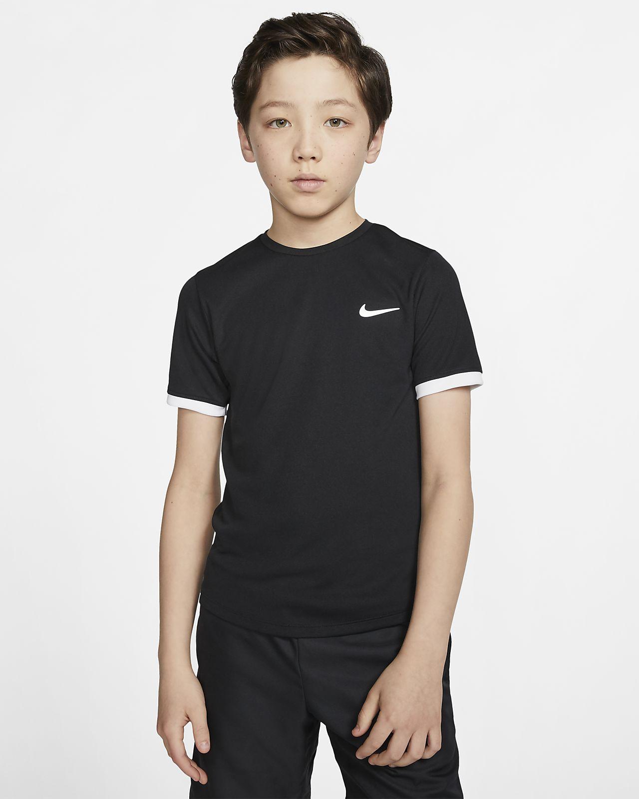Camisola de ténis de manga curta NikeCourt Dri-FIT Júnior (Rapaz)