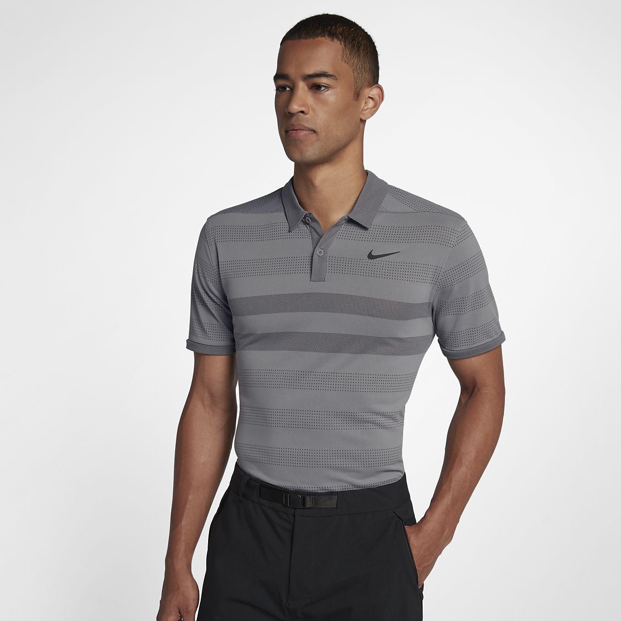 Nike TechKnit Cool Men's Striped Golf Polo
