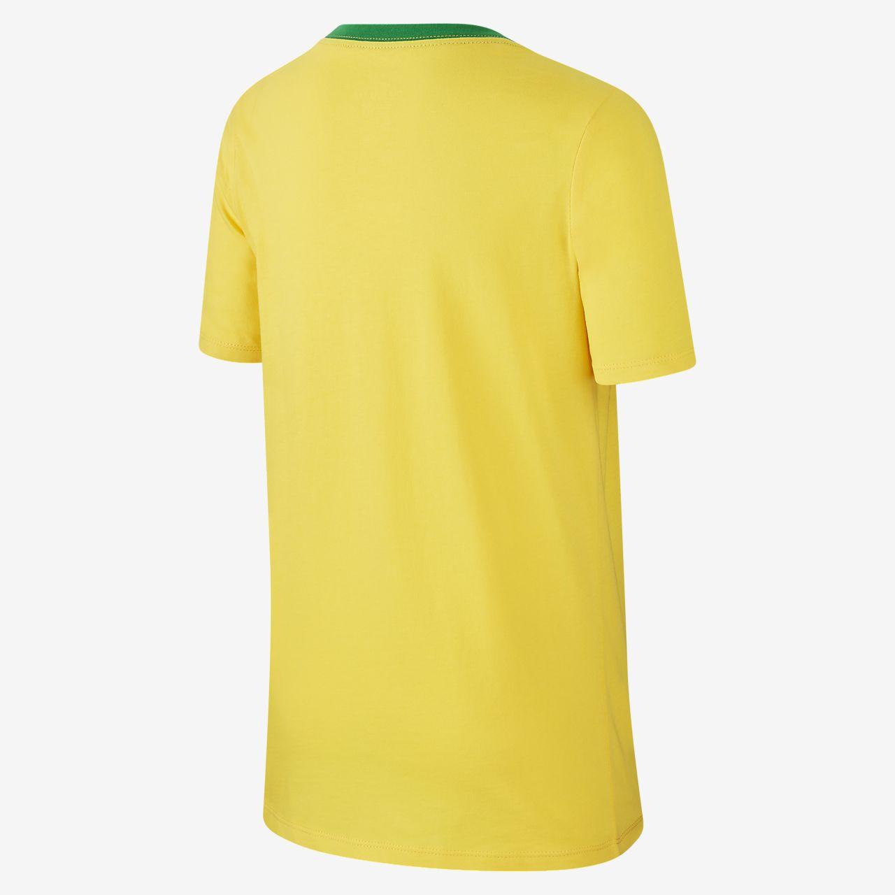 0a0dd911e Brazil CBF Crest Older Kids  (Boys ) T-Shirt. Nike.com GB