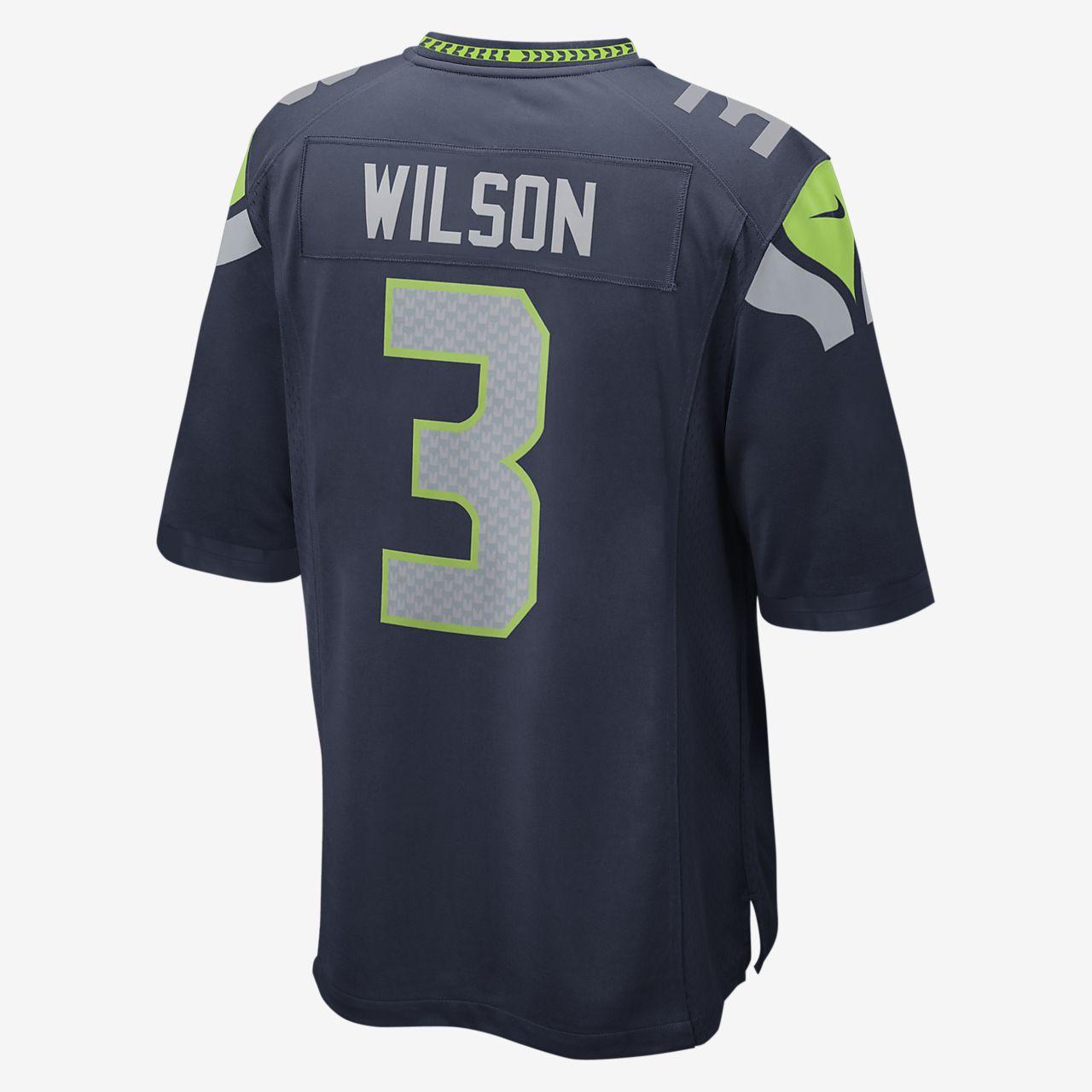 3700d38e NFL Seattle Seahawks (Russell Wilson) Kids' Football Home Game Jersey