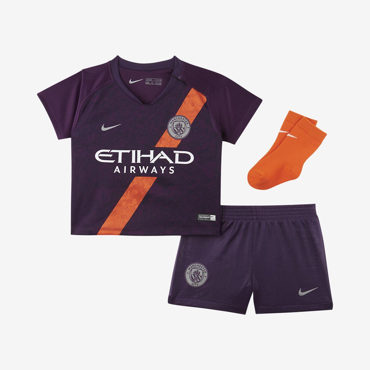 Manchester City FC 2018/19 tredjedraktsett til spedbarn