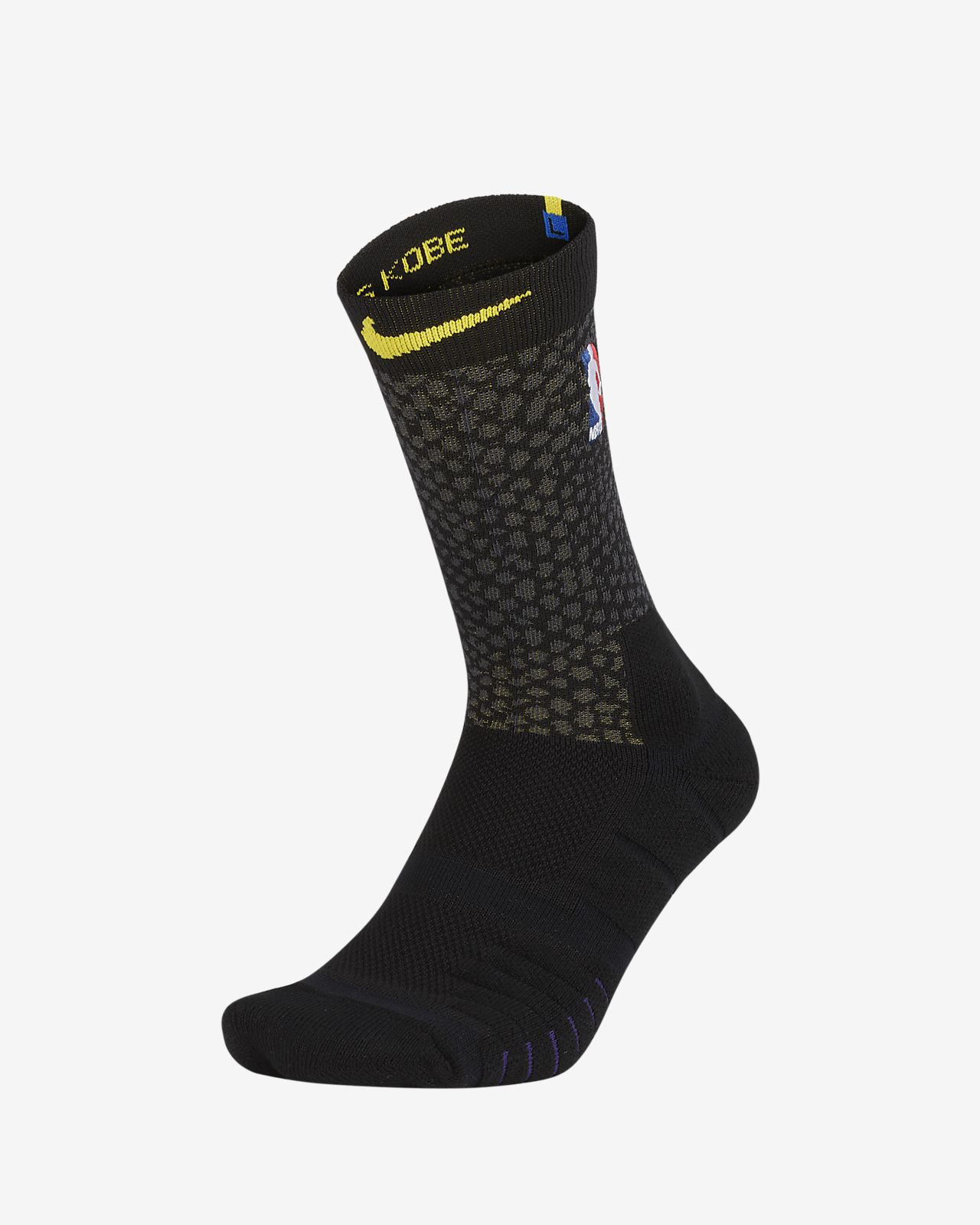 7664ccf1723 Unisex NBA Crew Socks. Los Angeles Lakers City Edition Nike Elite Quick