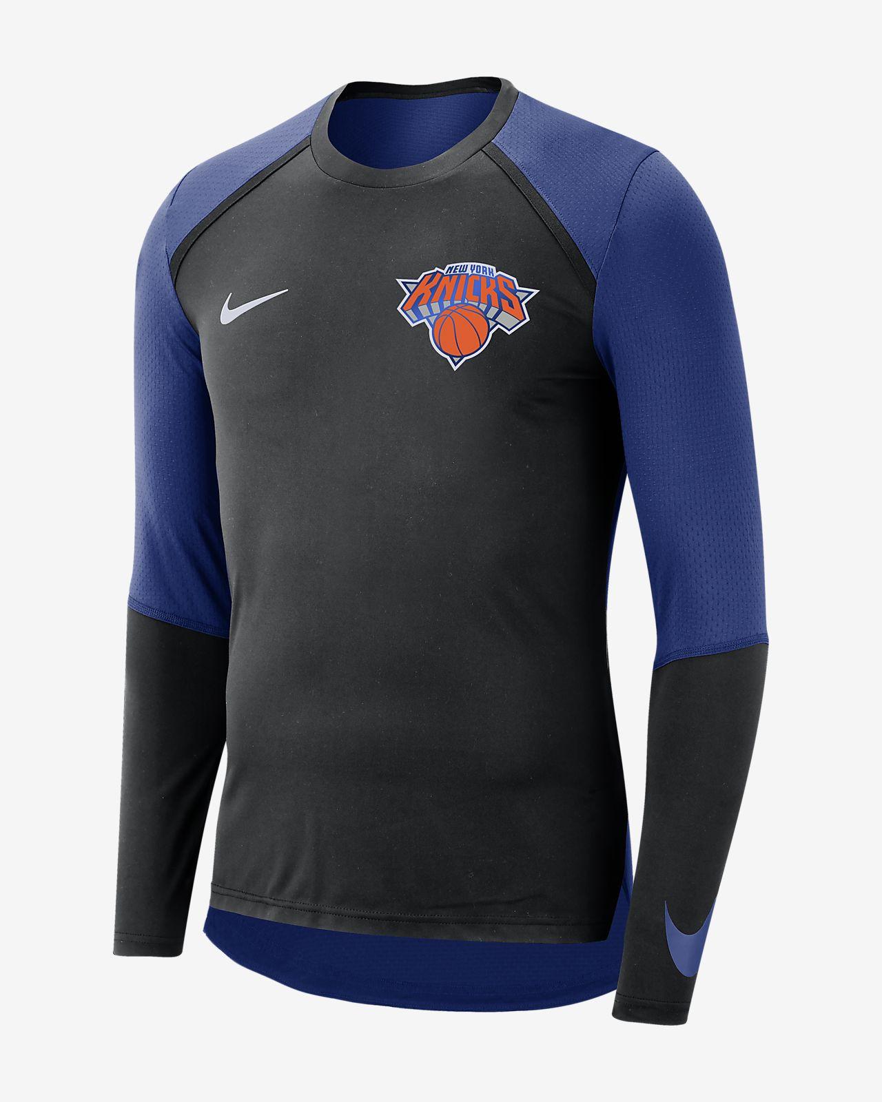 New York Knicks Nike Dri-FIT Men's Long-Sleeve NBA Top