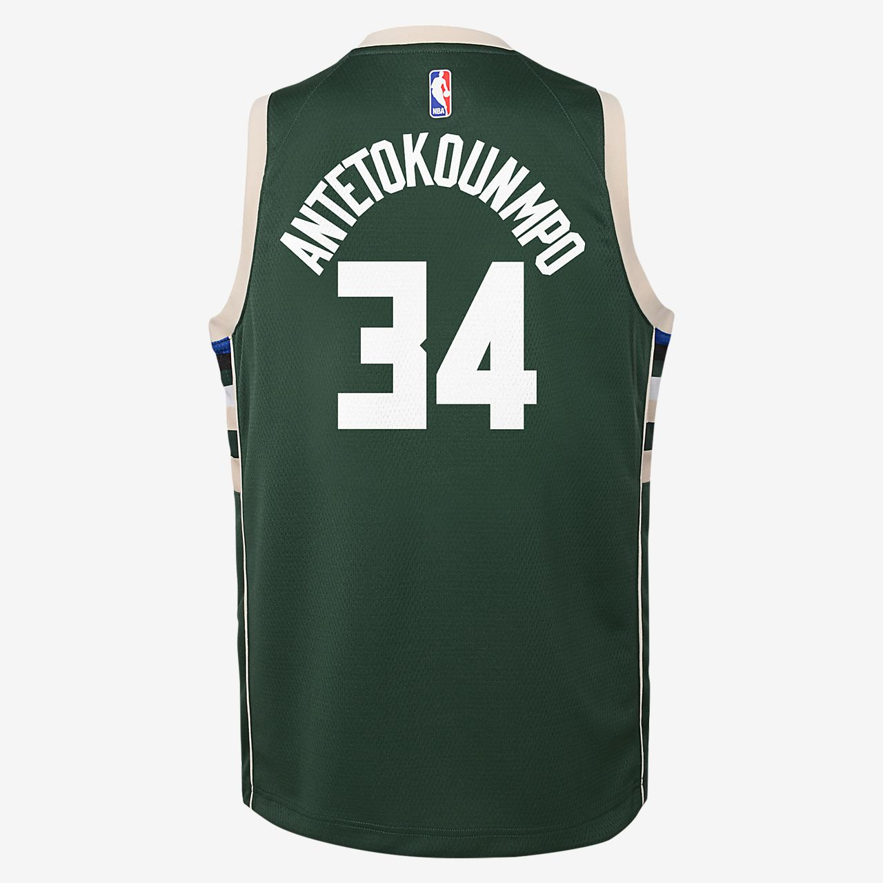 489a8f8cdf5 ... Giannis Antetokounmpo Milwaukee Bucks Nike Icon Edition Swingman Big  Kids' NBA Jersey
