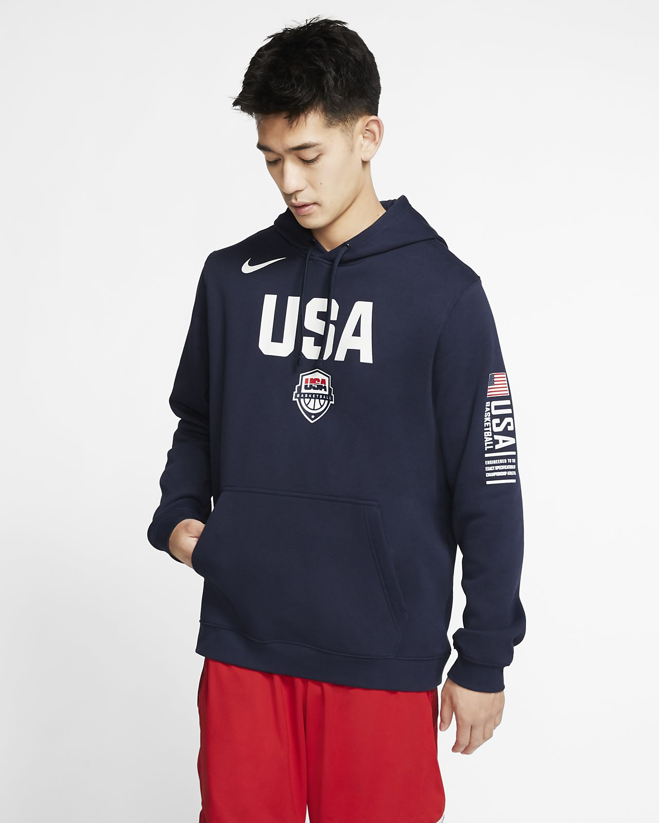 USA Nike Club Fleece Basketball Pullover für Herren