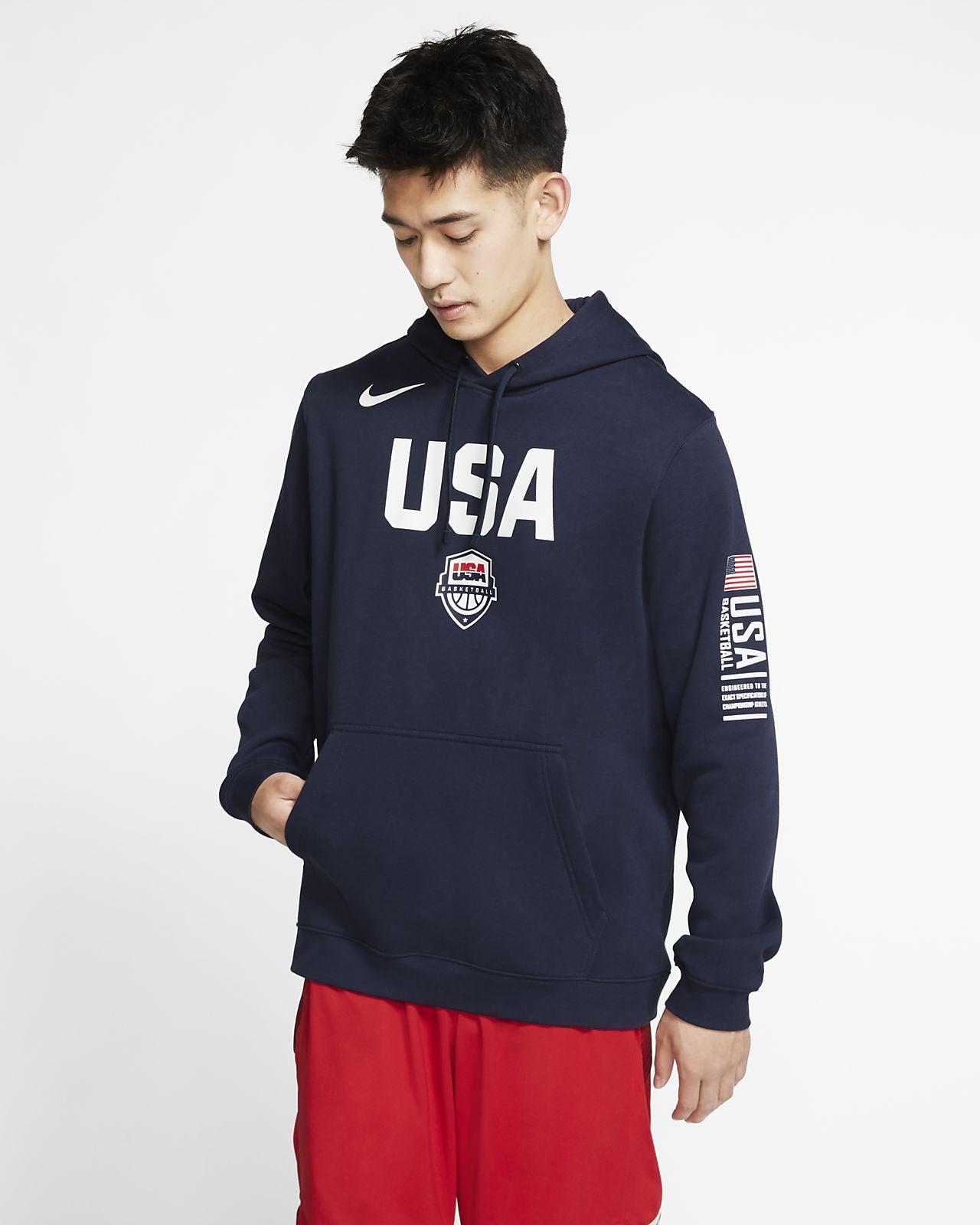 USA Nike Club Fleece Basketball-Pullover für Herren