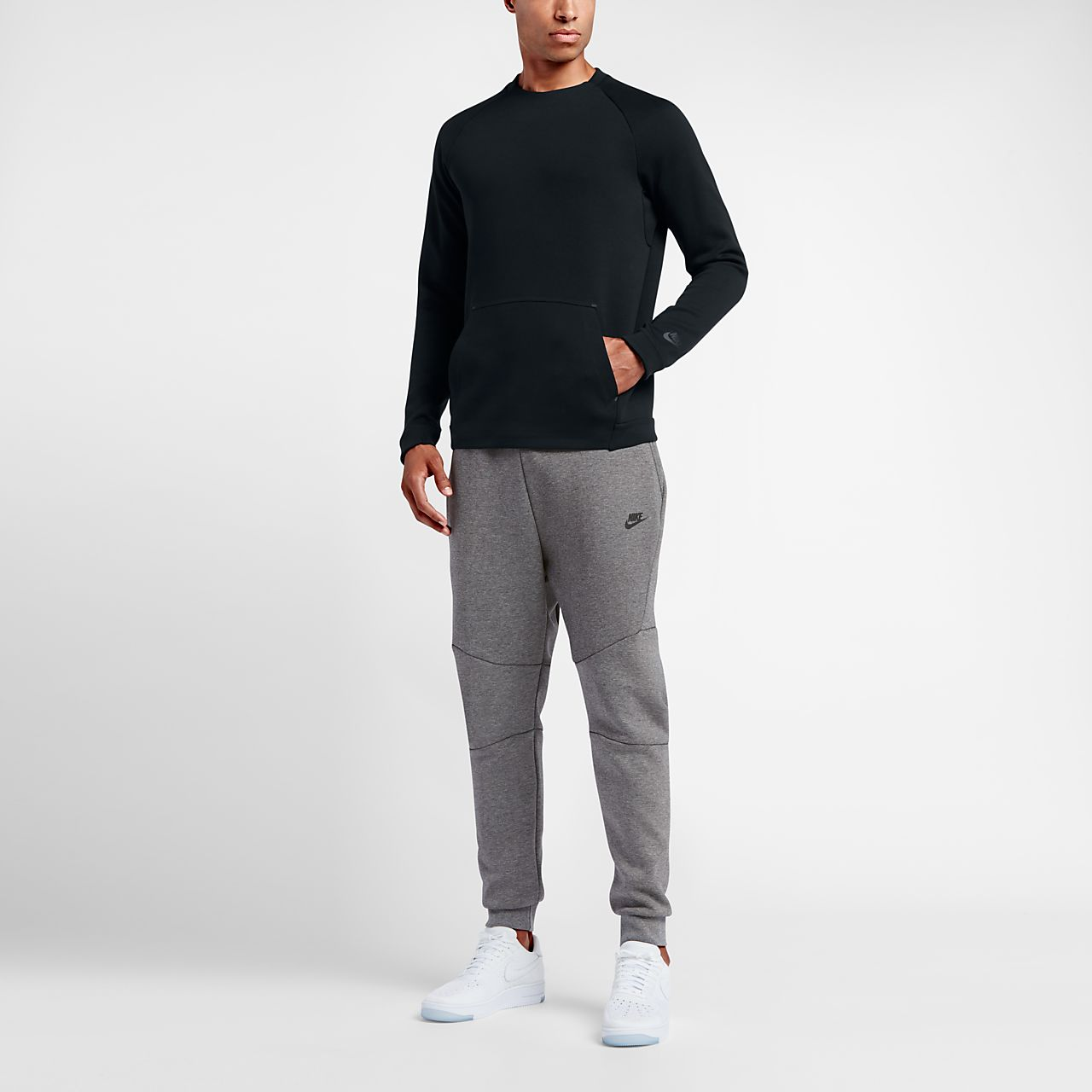 nike outfits for men. nike sportswear tech fleece crew men\u0027s sweatshirt outfits for men