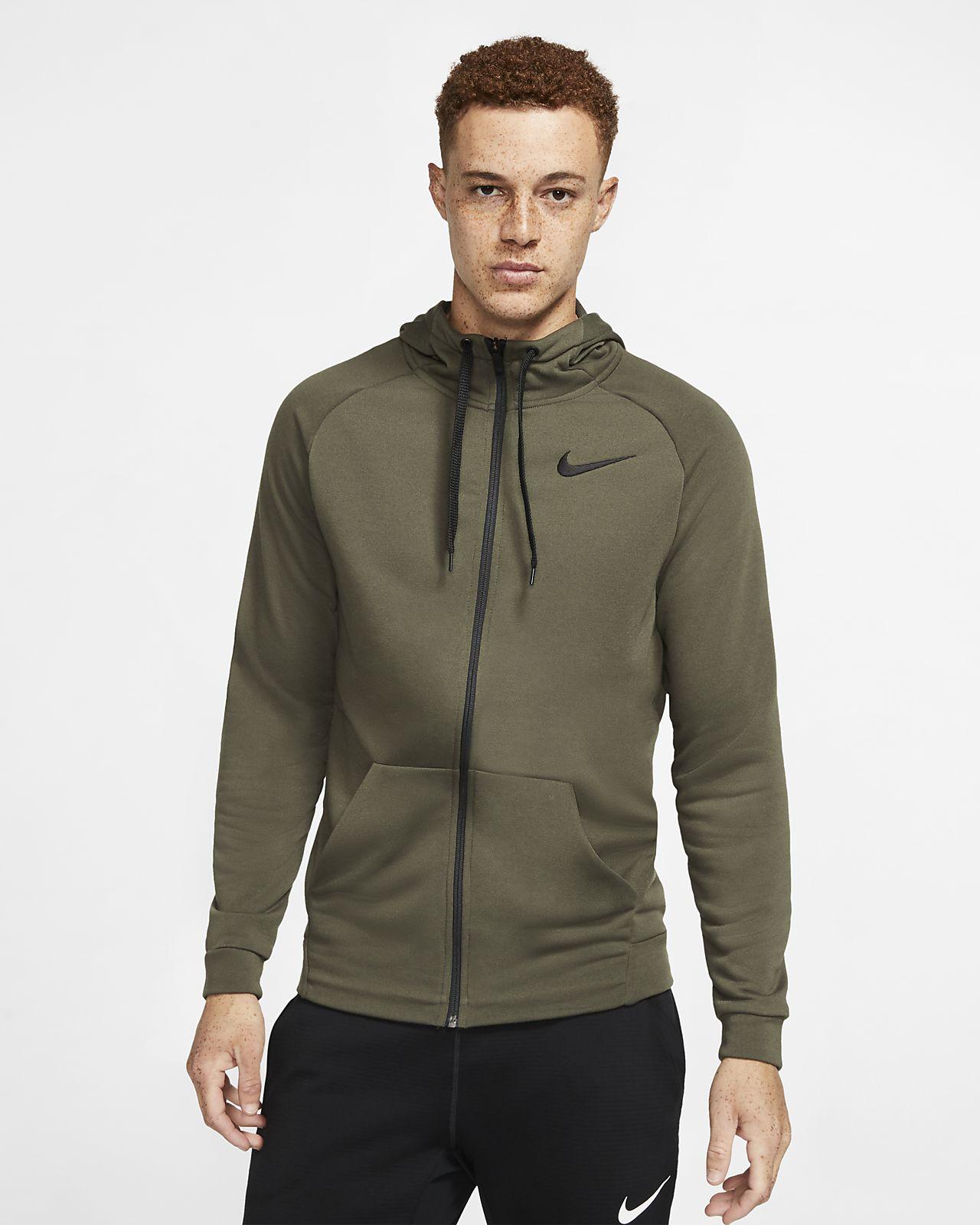 Nike Dri FIT Trainings Hoodie mit durchgehendem Reißverschluss für Herren