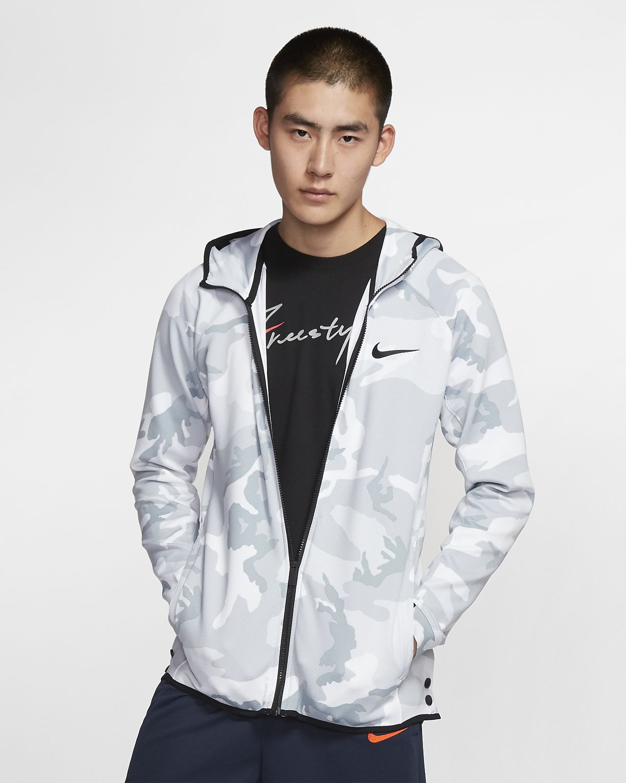 Nike Therma Flex Showtime 男子印花篮球连帽衫