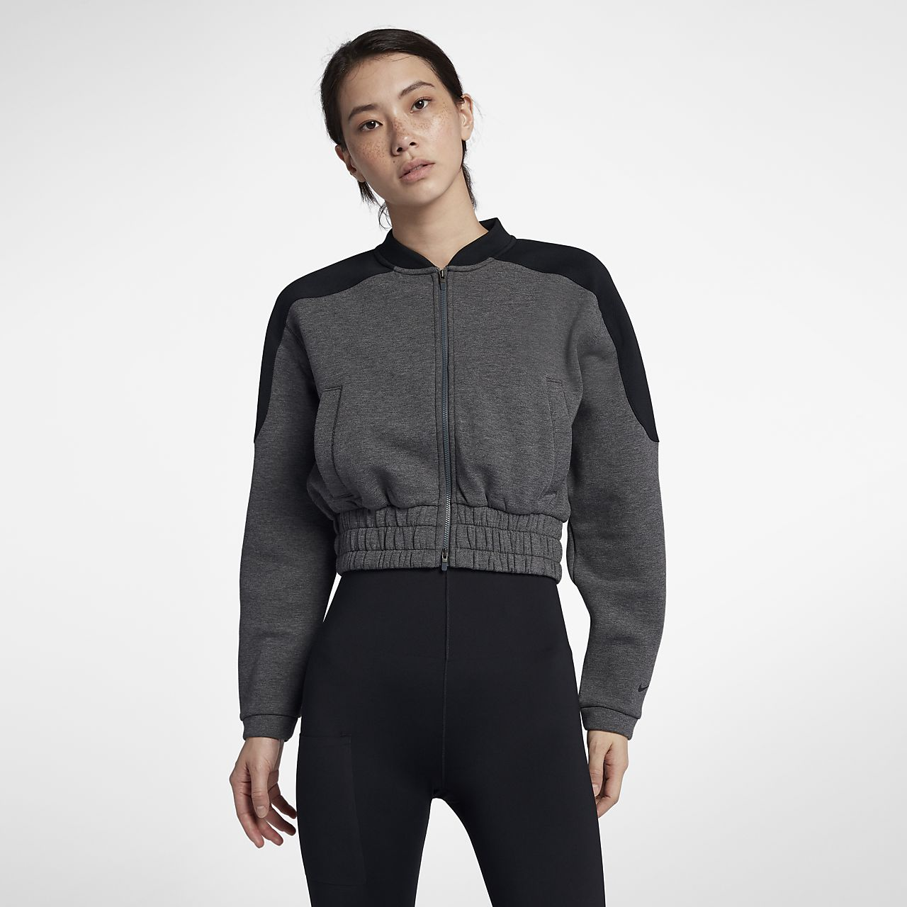 ae1790ef3c18 Nike Dri-FIT Women s Full-Zip Training Bomber Jacket. Nike.com