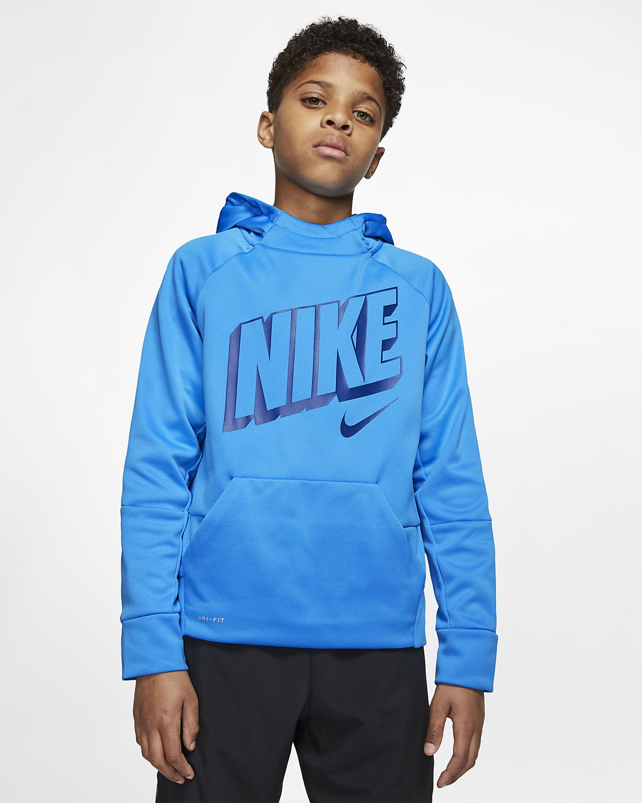 Nike Therma Big Kids' (Boys') Pullover Training Hoodie
