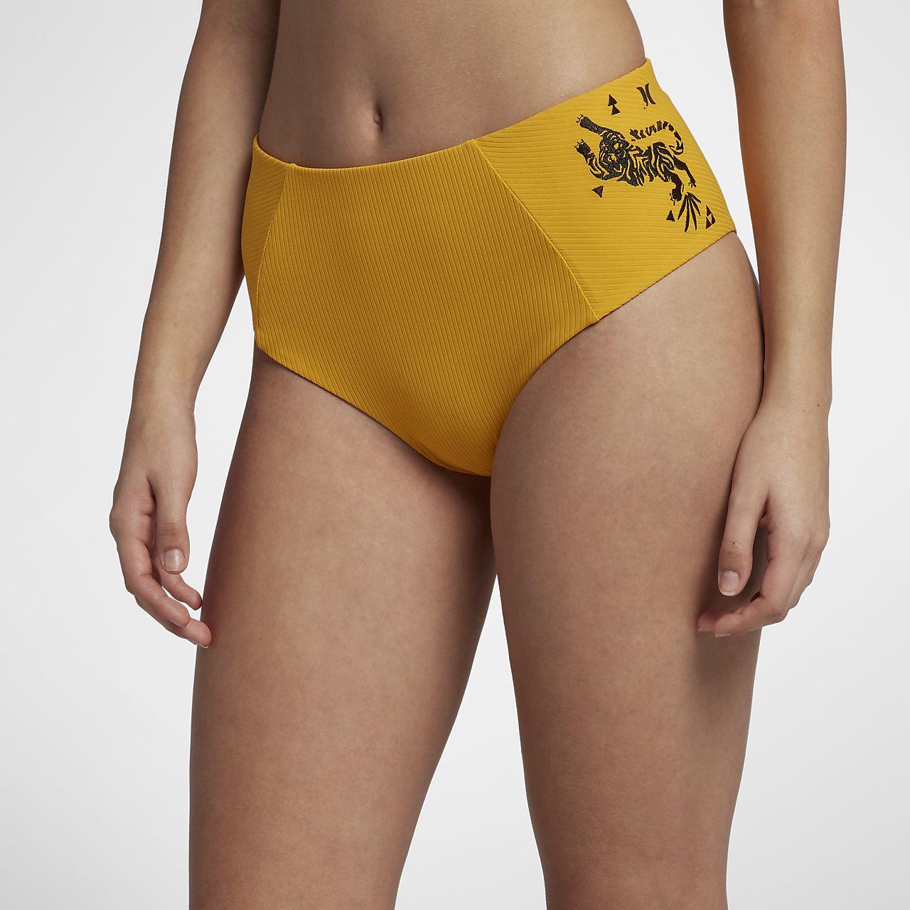 Hurley Quick Dry Embroidered Damen-Surfhose mit hohem Taillenbund