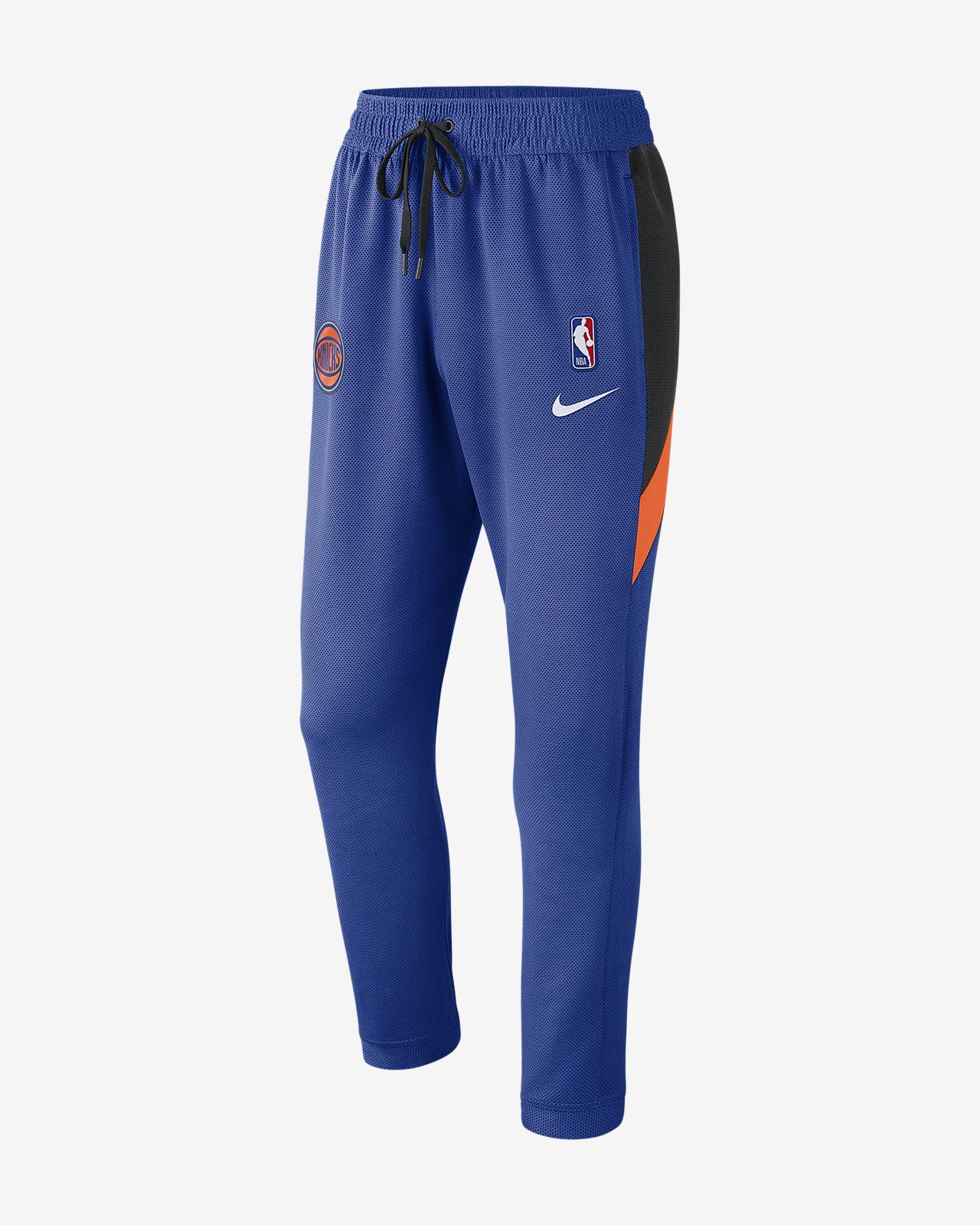 Calças NBA New York Knicks Nike Therma Flex Showtime para homem