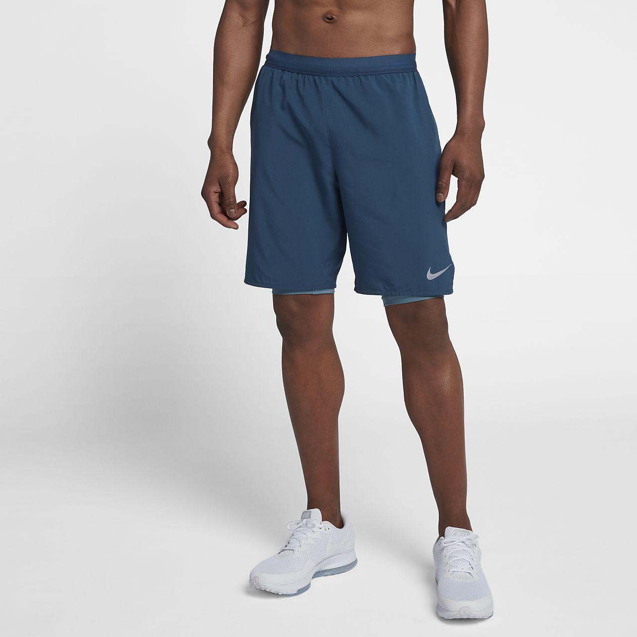 Nike Flex Stride 2-in-1-Laufshorts für Herren (ca. 12,5 cm) - Blau