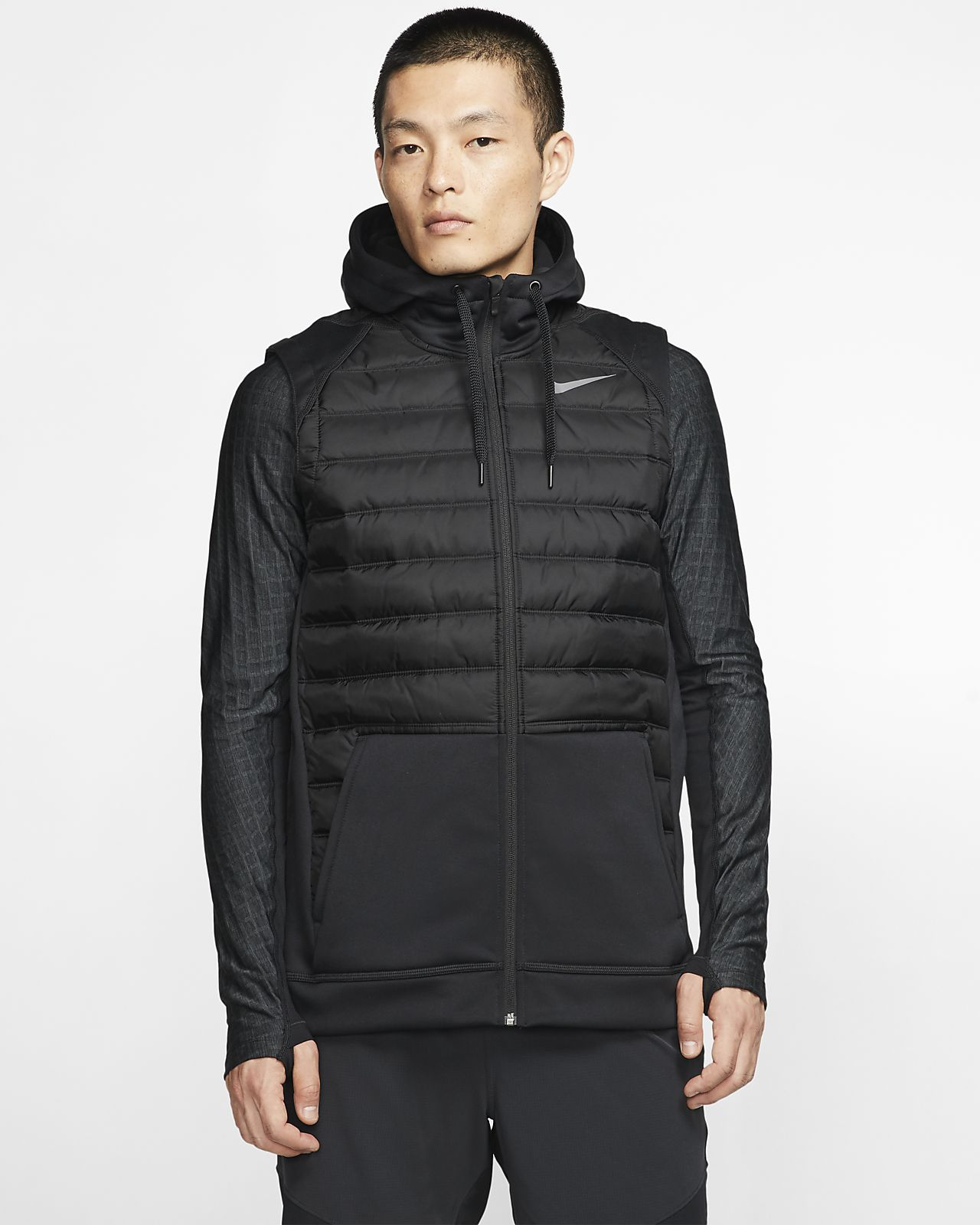 Veste sans manches de training à zip pour l'hiver Nike Therma pour Homme
